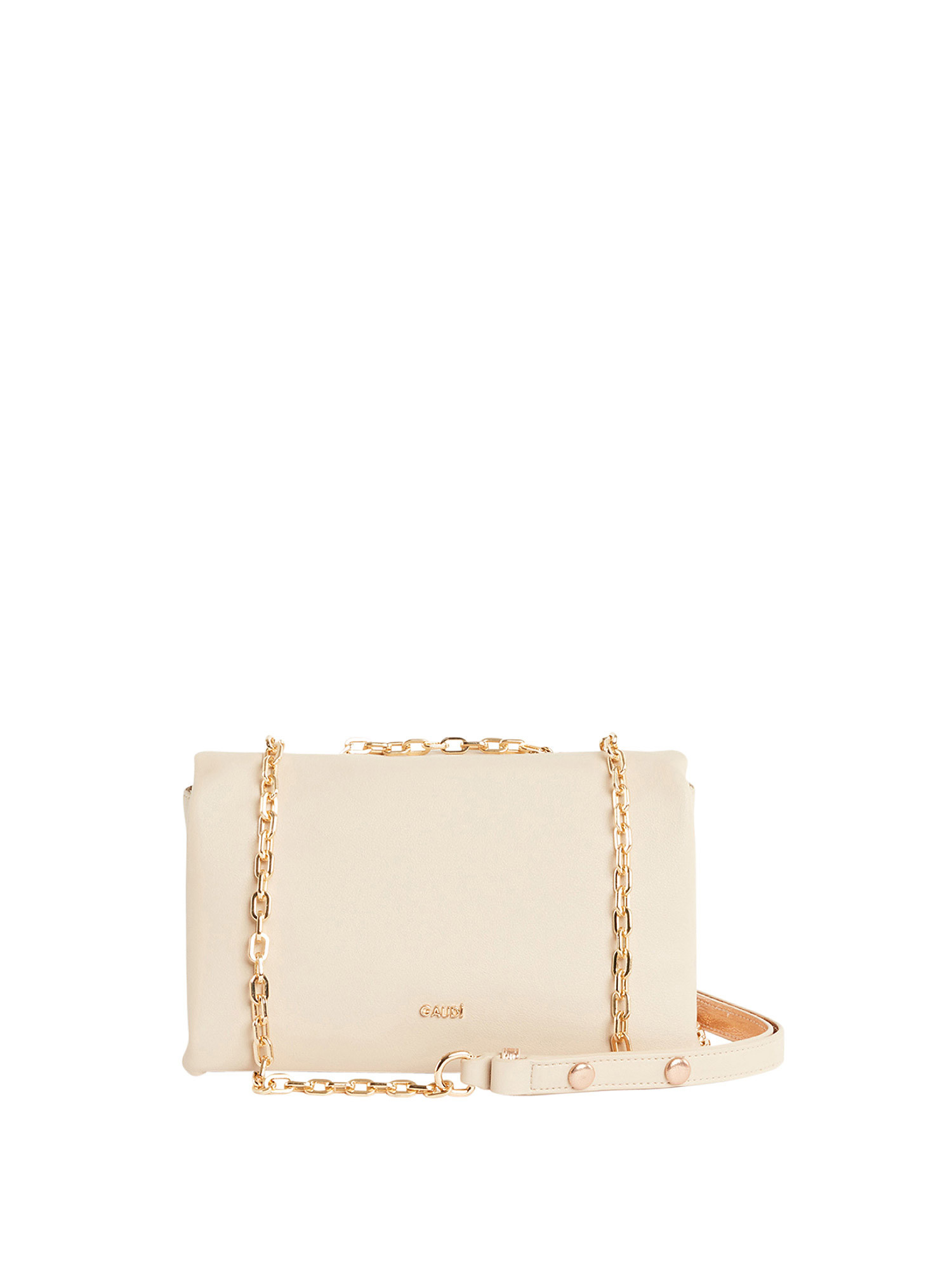 Borsa a tracolla in ecopelle, Beige, large image number 2