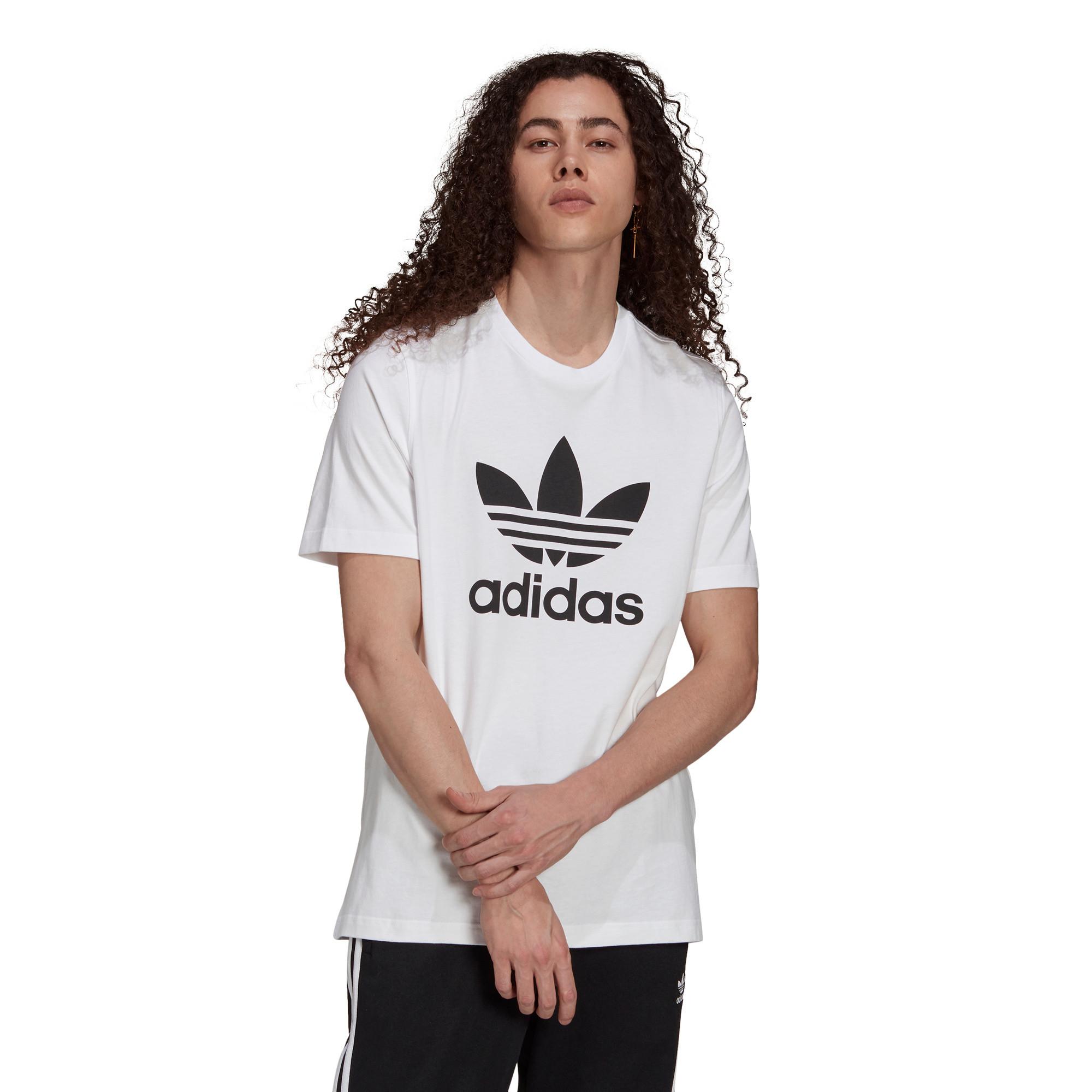 T-shirt uomo adicolor Classics Trefoil, Bianco/Nero, large image number 1