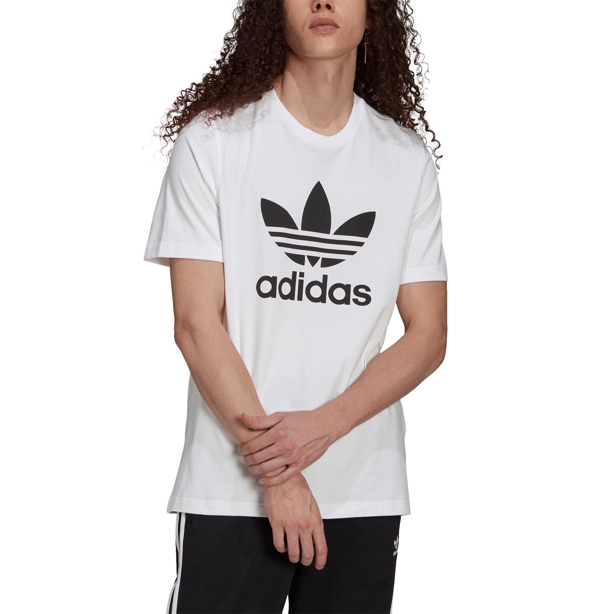 T-shirt uomo adicolor Classics Trefoil, Bianco/Nero, large image number 3