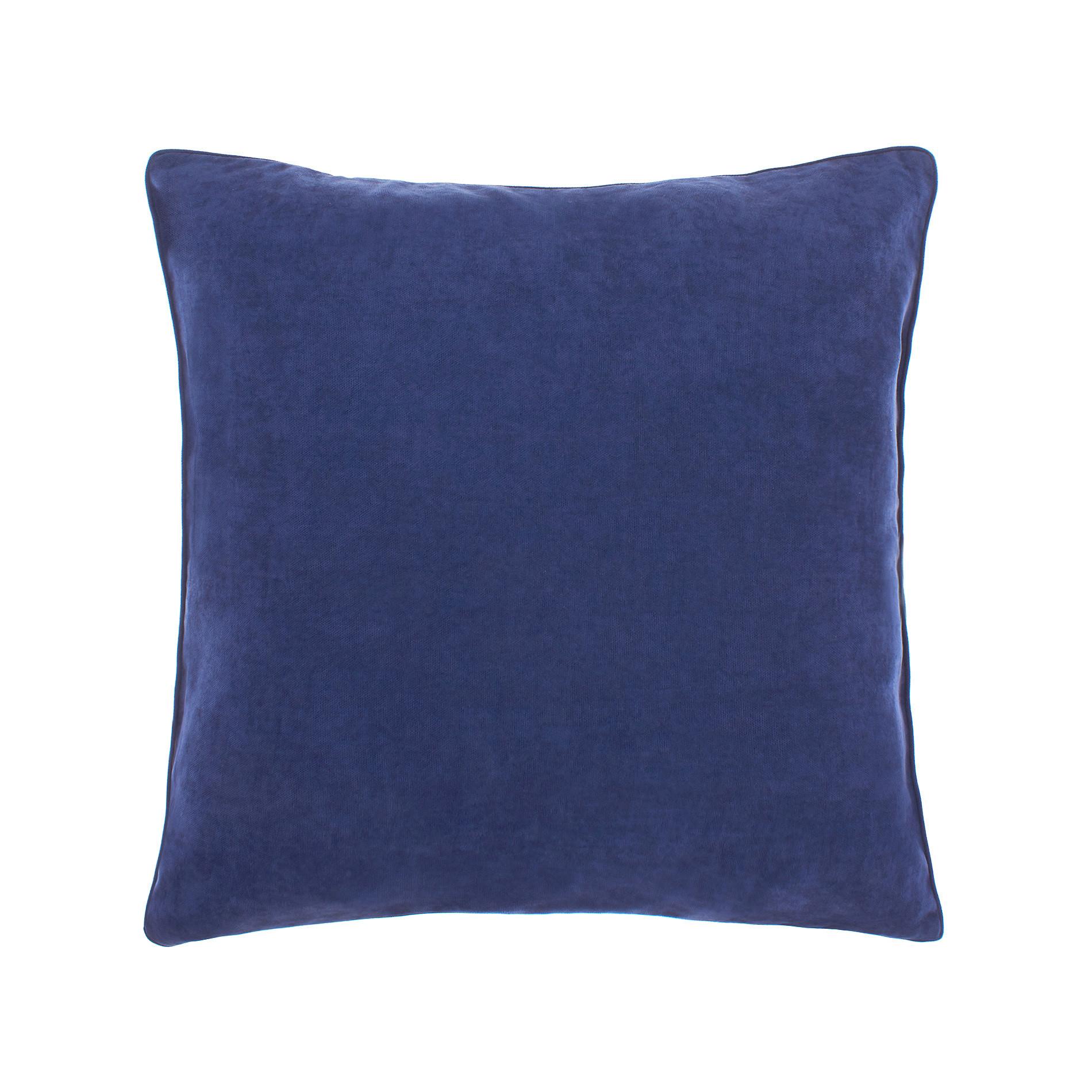 Cuscino melange tinta unita, Blu scuro, large image number 0