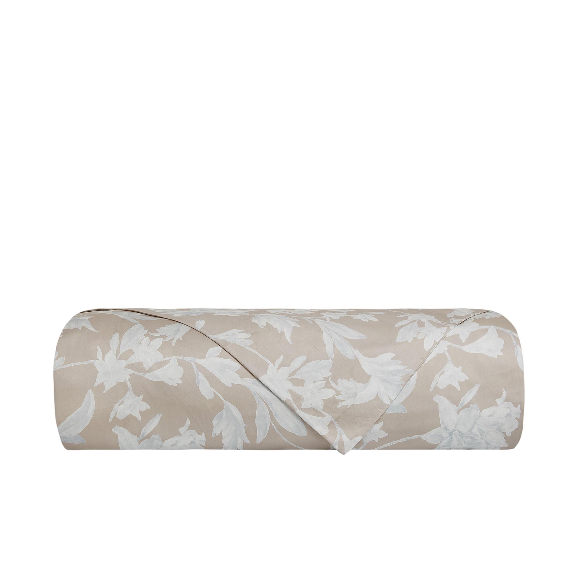Copripiumino raso di cotone motivo floreale Portofino, Beige, large image number 1