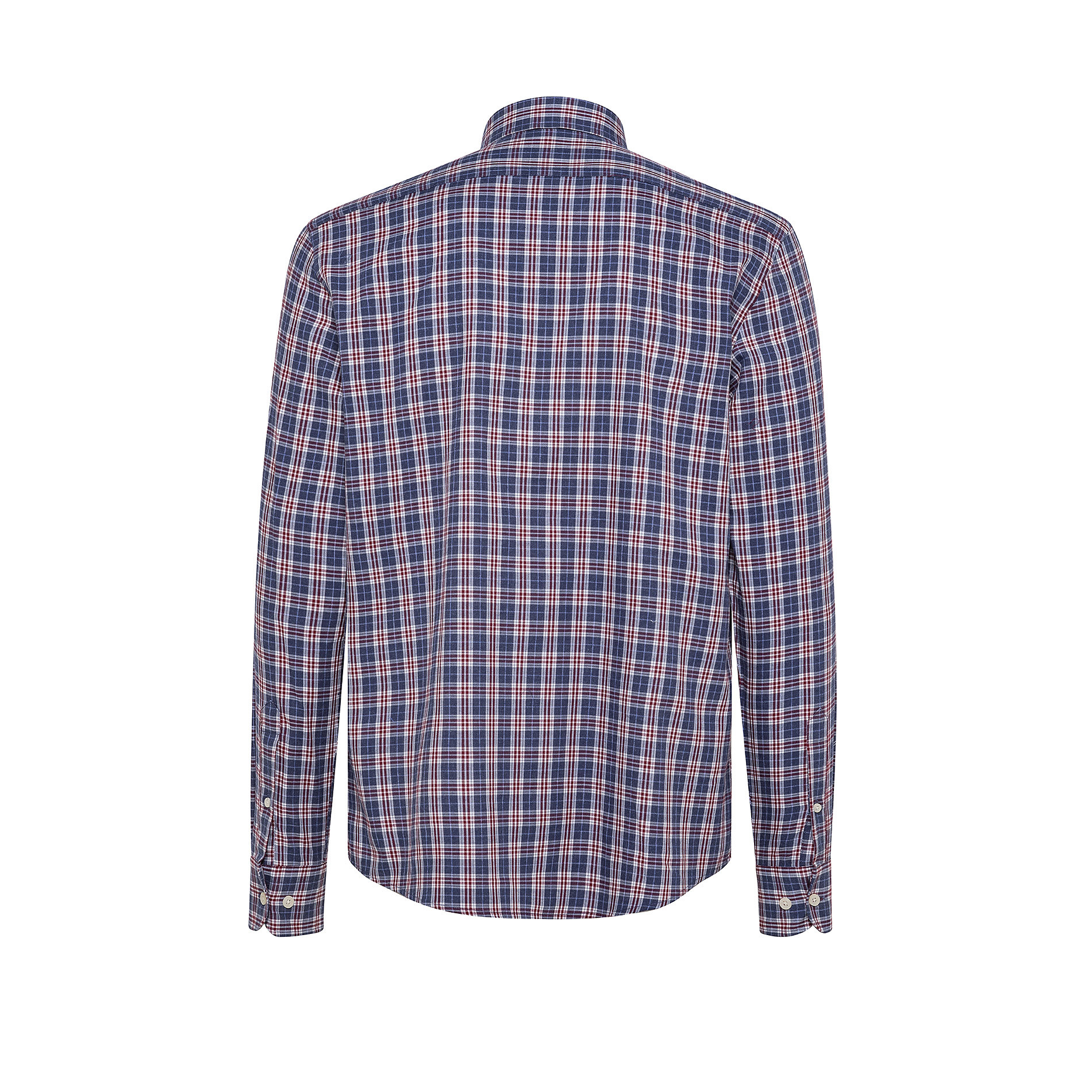 Camicia button-down tailor fit in cotone organico, Blu, large image number 1
