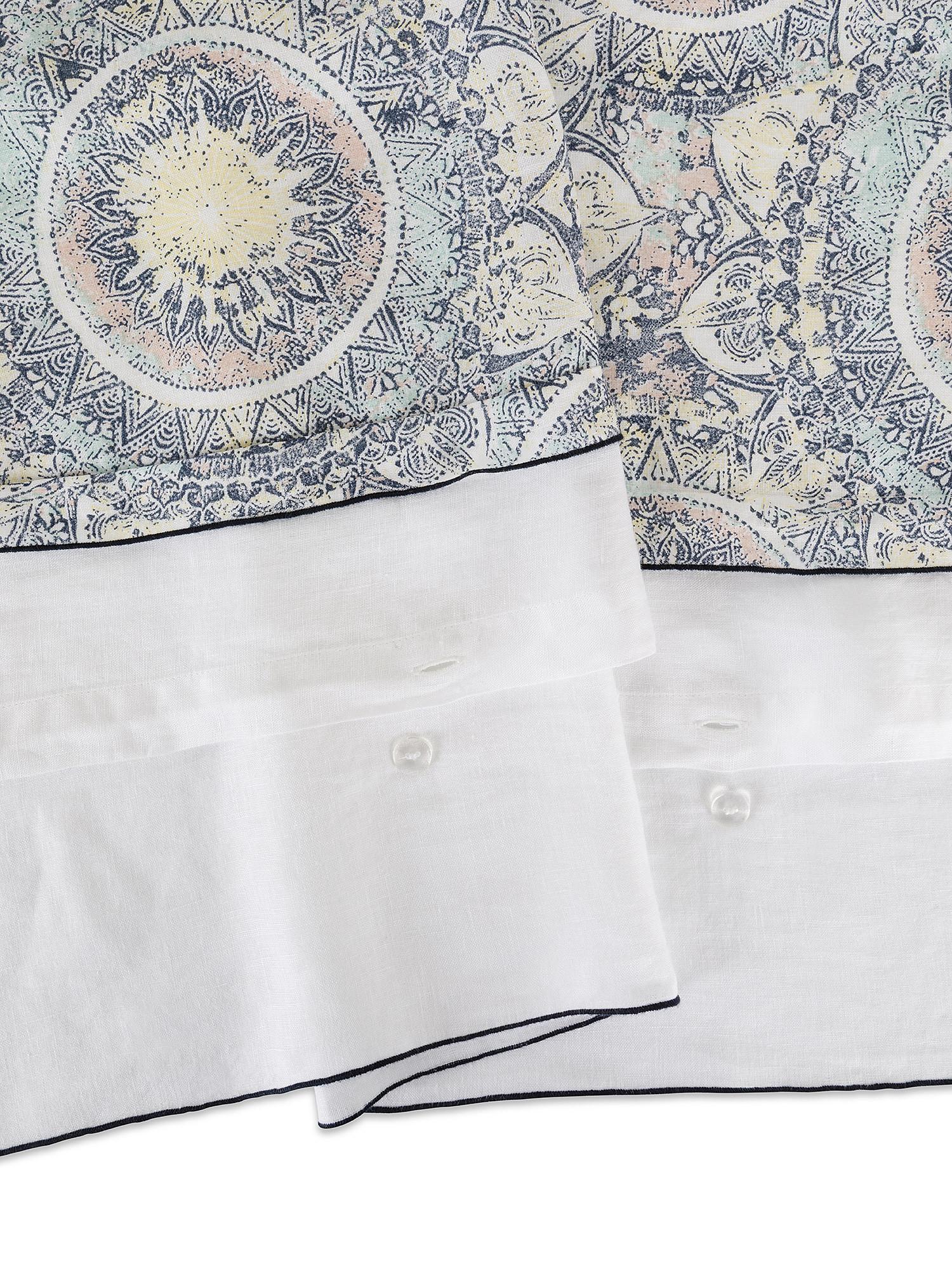 Copripiumino puro lino lavato fantasia tarocchi, Bianco, large image number 2