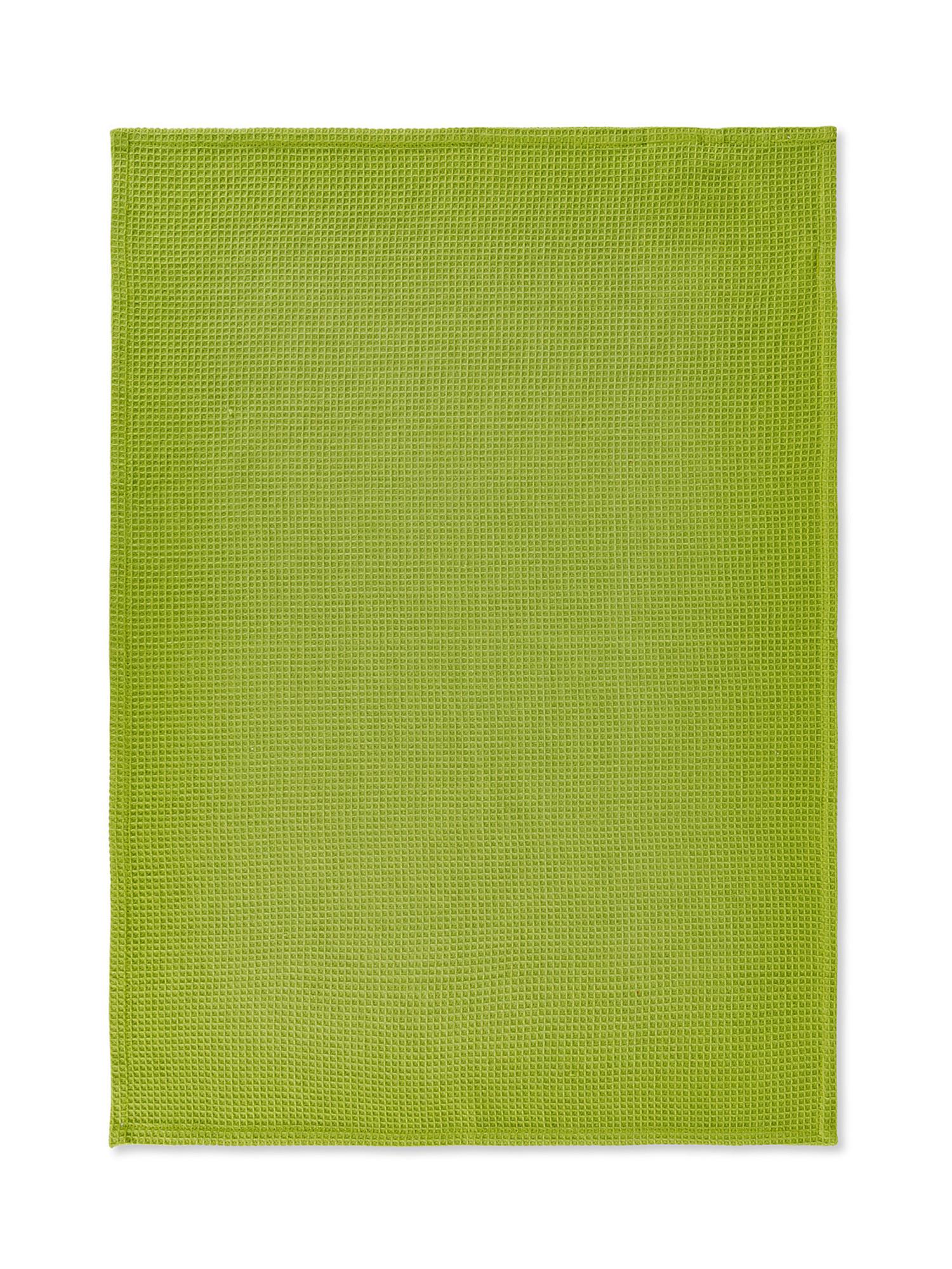 Set 3 strofinacci puro cotone organico stampa erbe, Verde, large image number 2