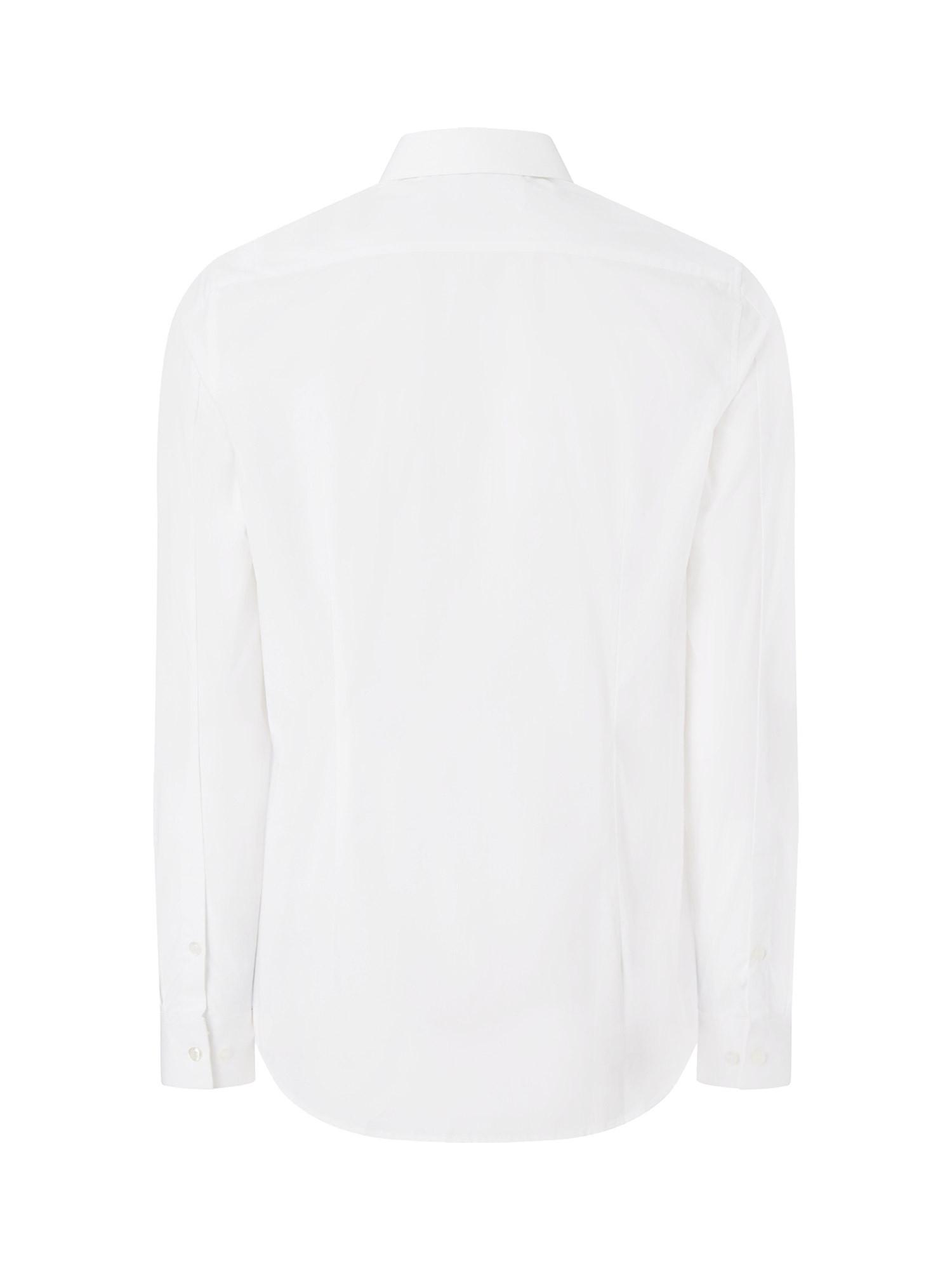 Camicia in cotone elasticizzato, Bianco, large image number 2