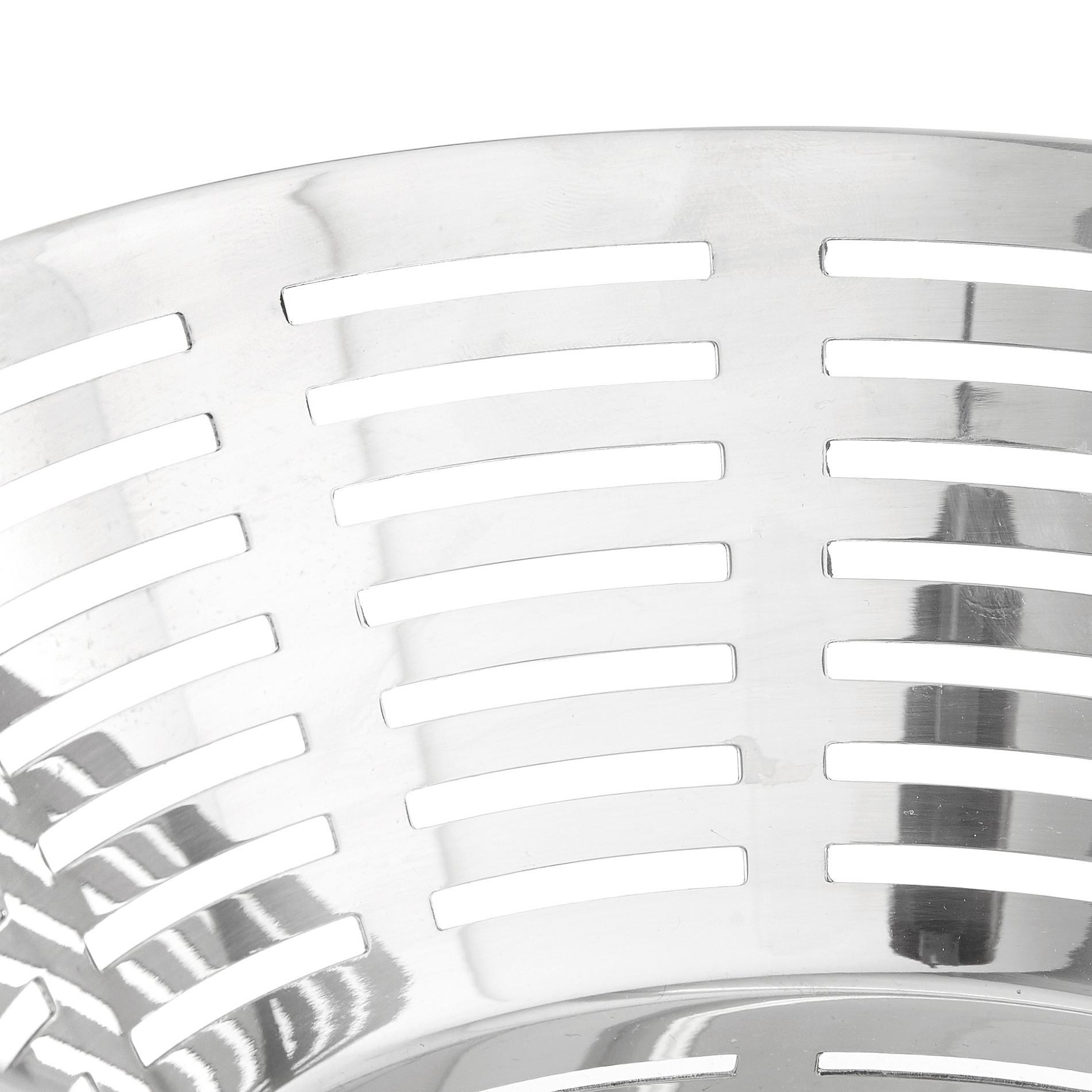 Cestino rotondo acciaio inox, Grigio argento, large image number 1
