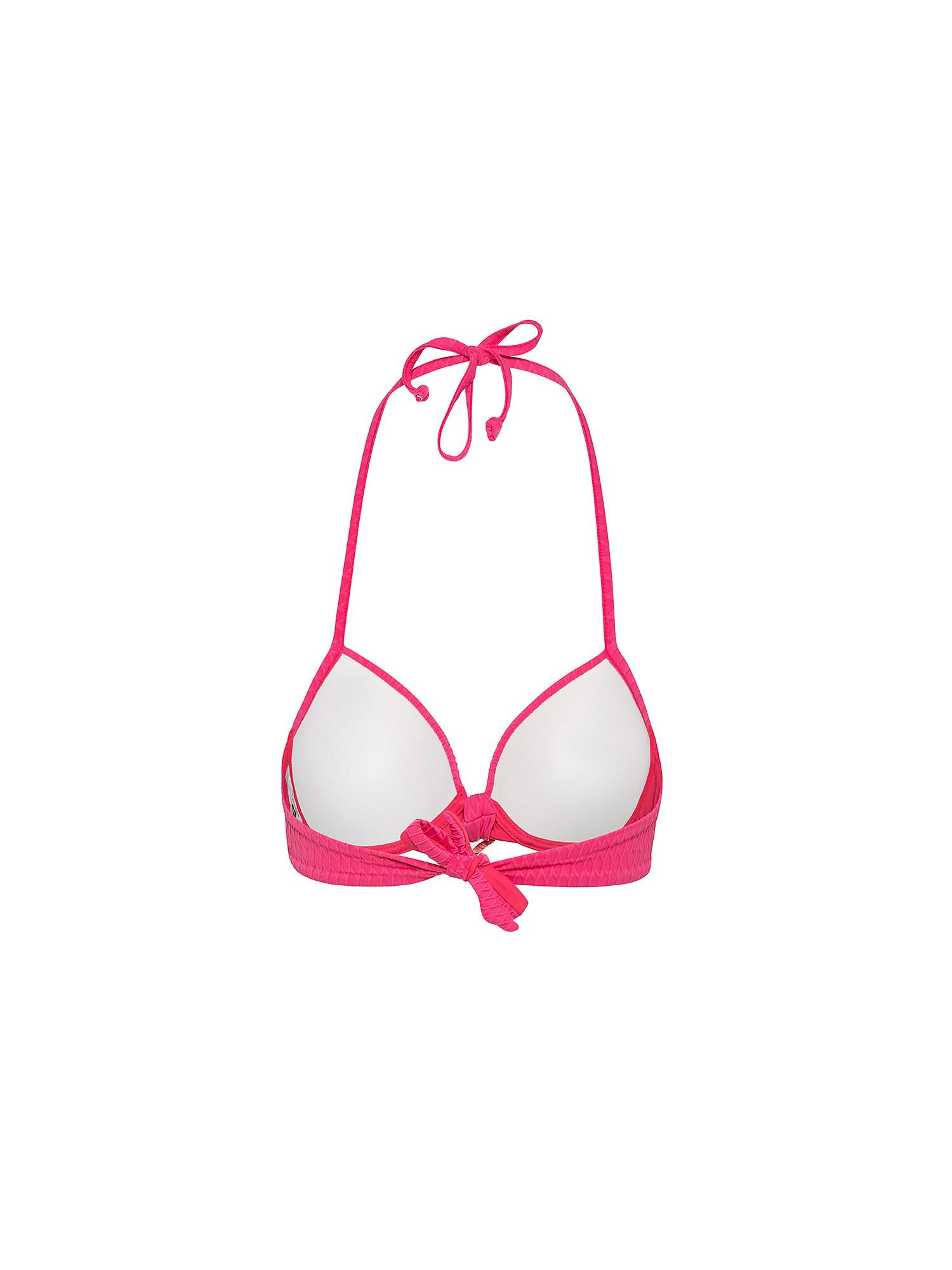Top bikini con push-up, Nero, large image number 1