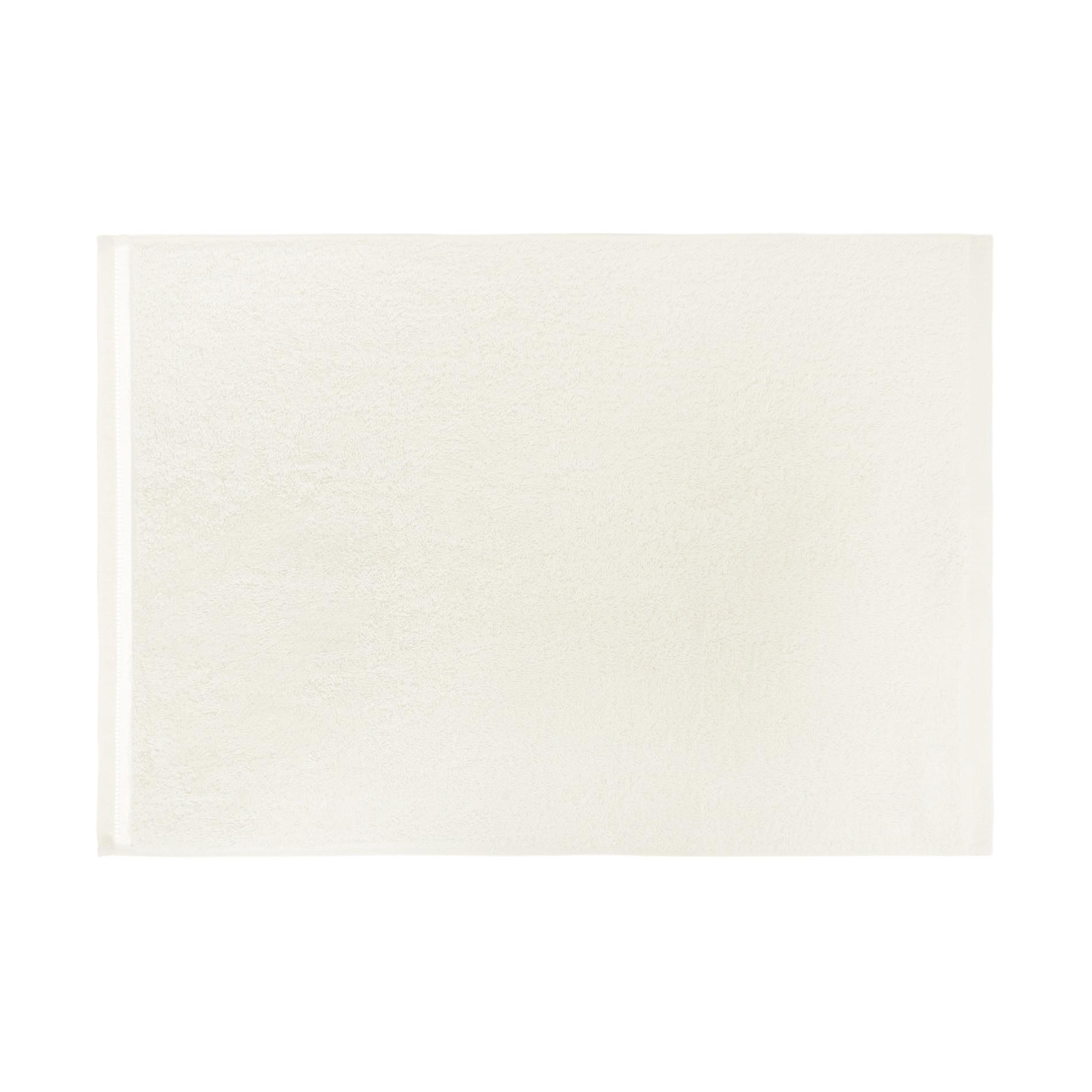 Set 2 asciugamani cotone biologico tinta unita, Bianco, large image number 2