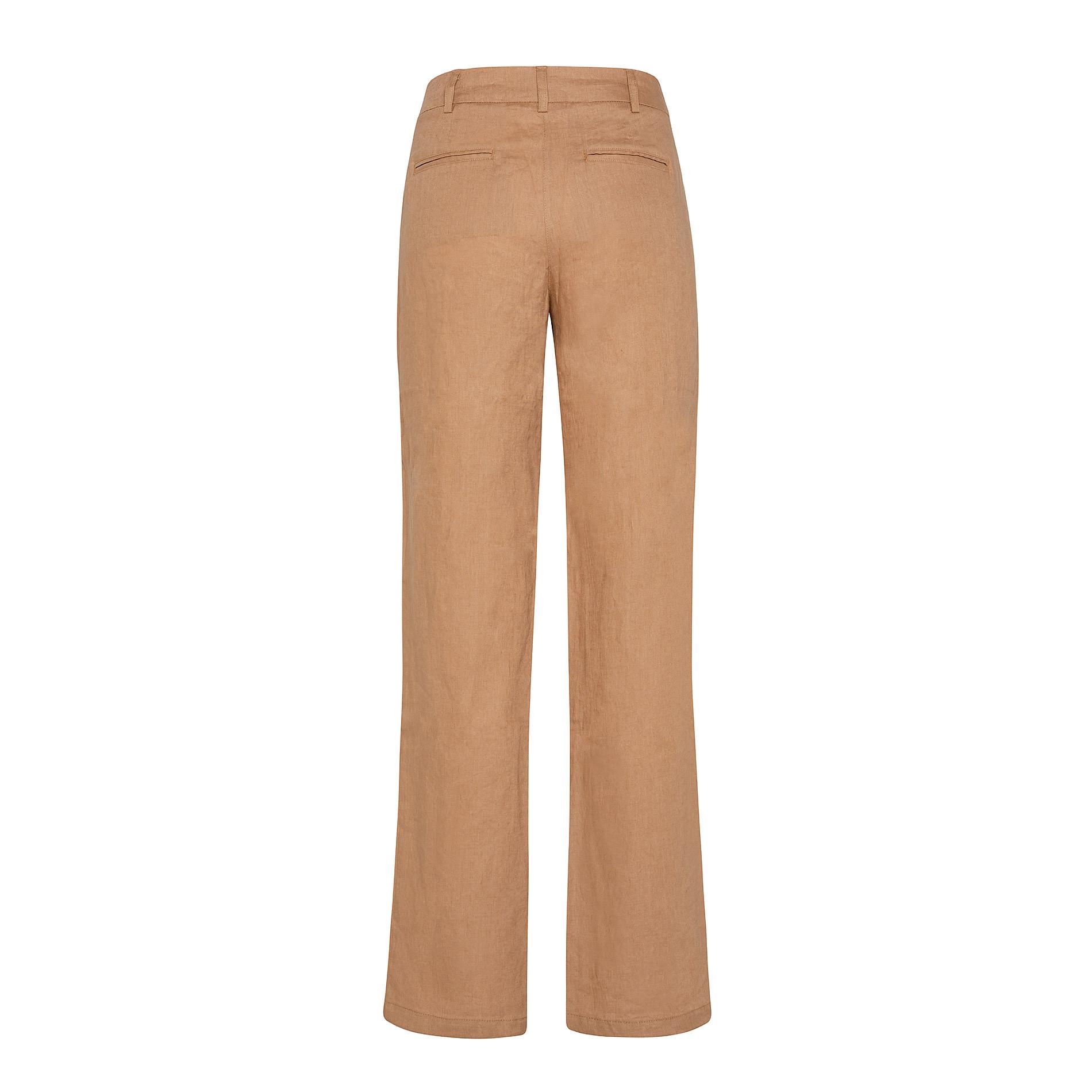 Pantalone classico in 100% lino con tasche Koan, Arancione, large image number 1