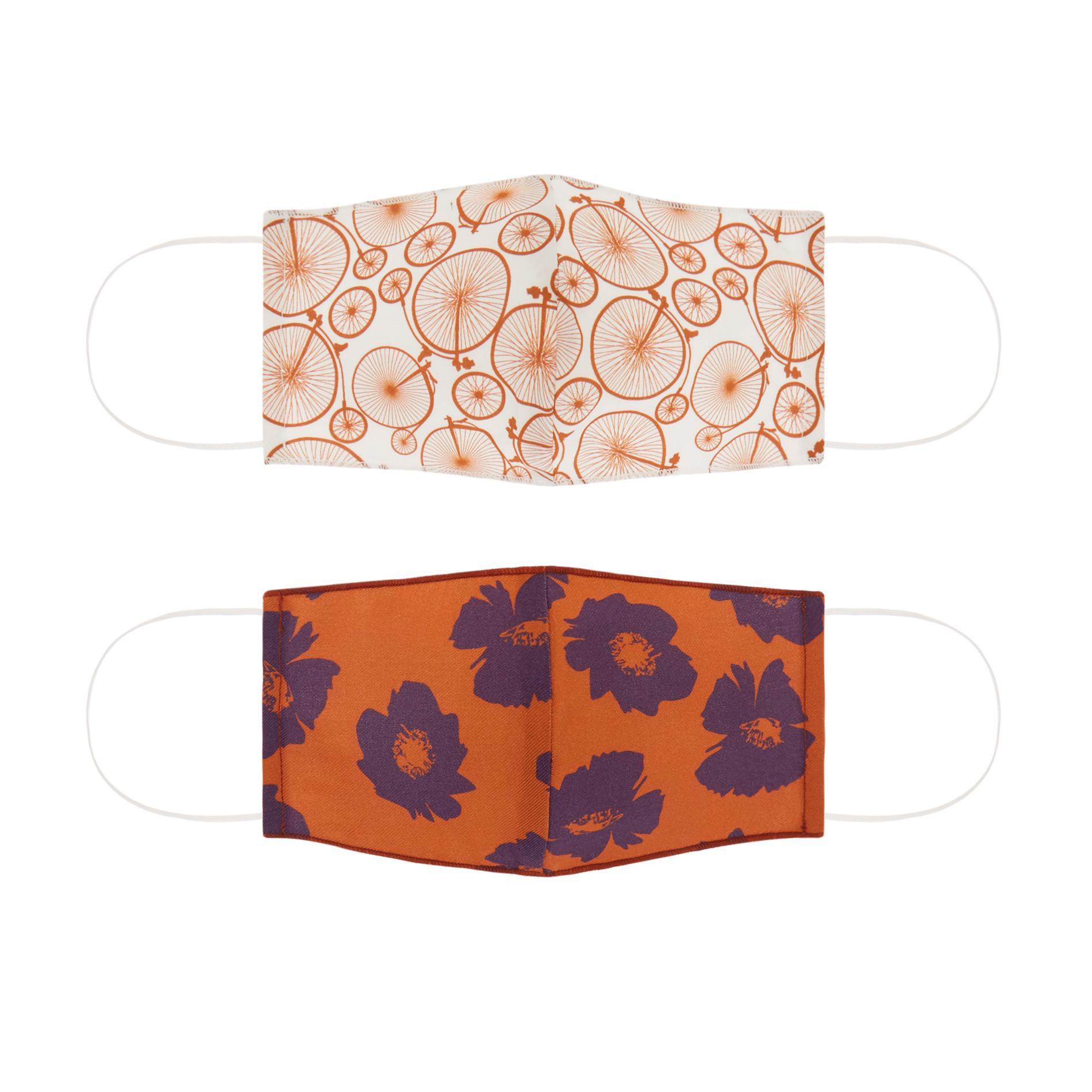 Set 2 mascherine lavabili tessuto fantasia, Multicolor, large image number 0