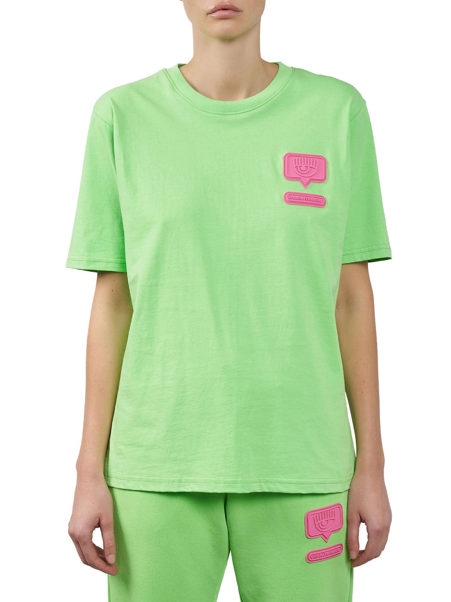 Eyelike patch T-Shirt over, Verde acido, large image number 2