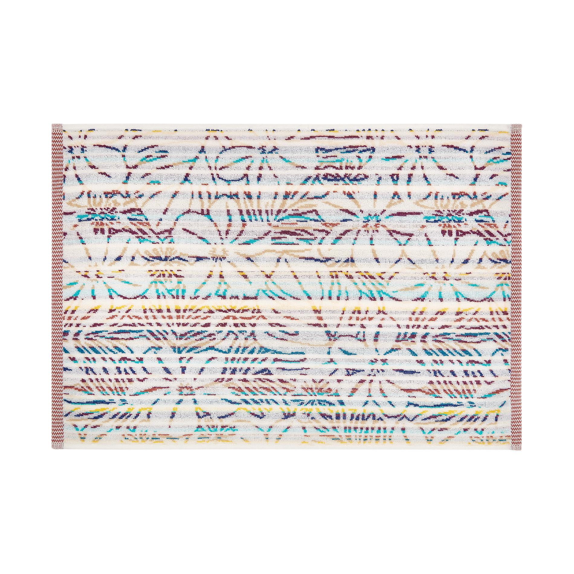 Asciugamano cotone jacquard motivo tropicale, Multicolor, large image number 1