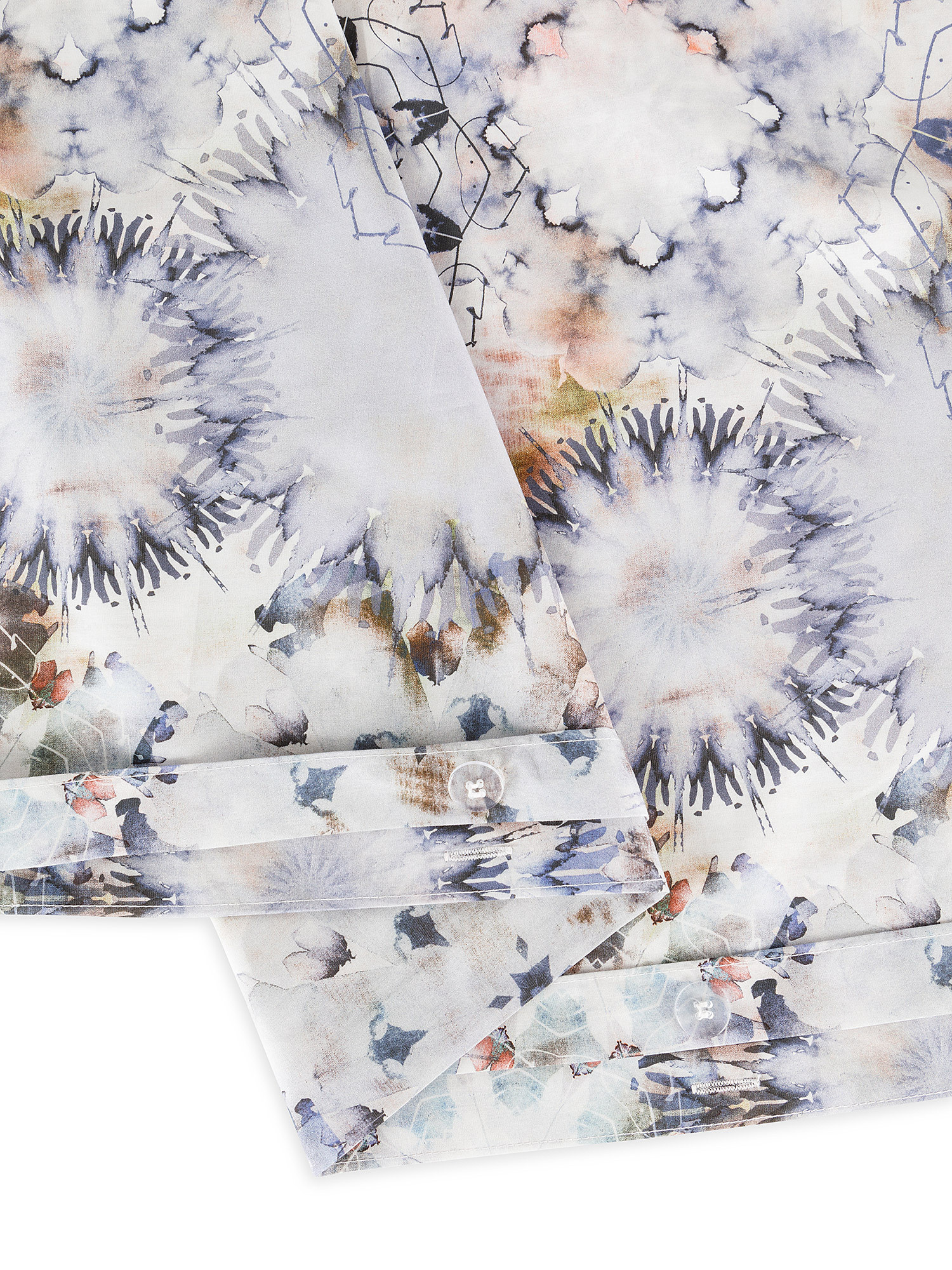Copripiumino percalle di cotone fantasia floreale, Blu, large image number 2