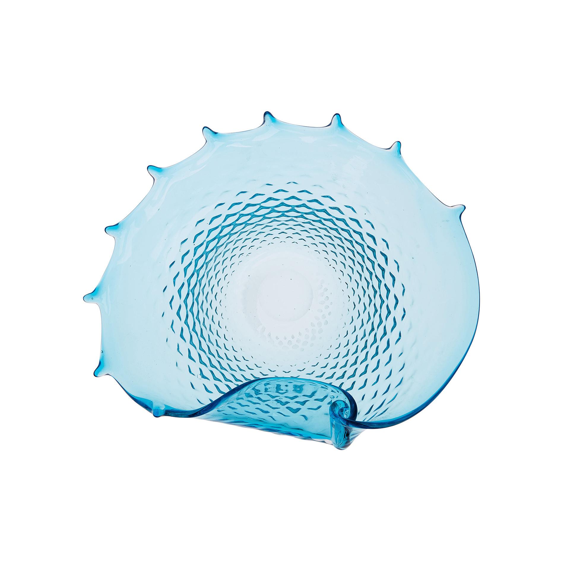 Conchiglia decorativa vetro colorato in pasta, Trasparente, large image number 0