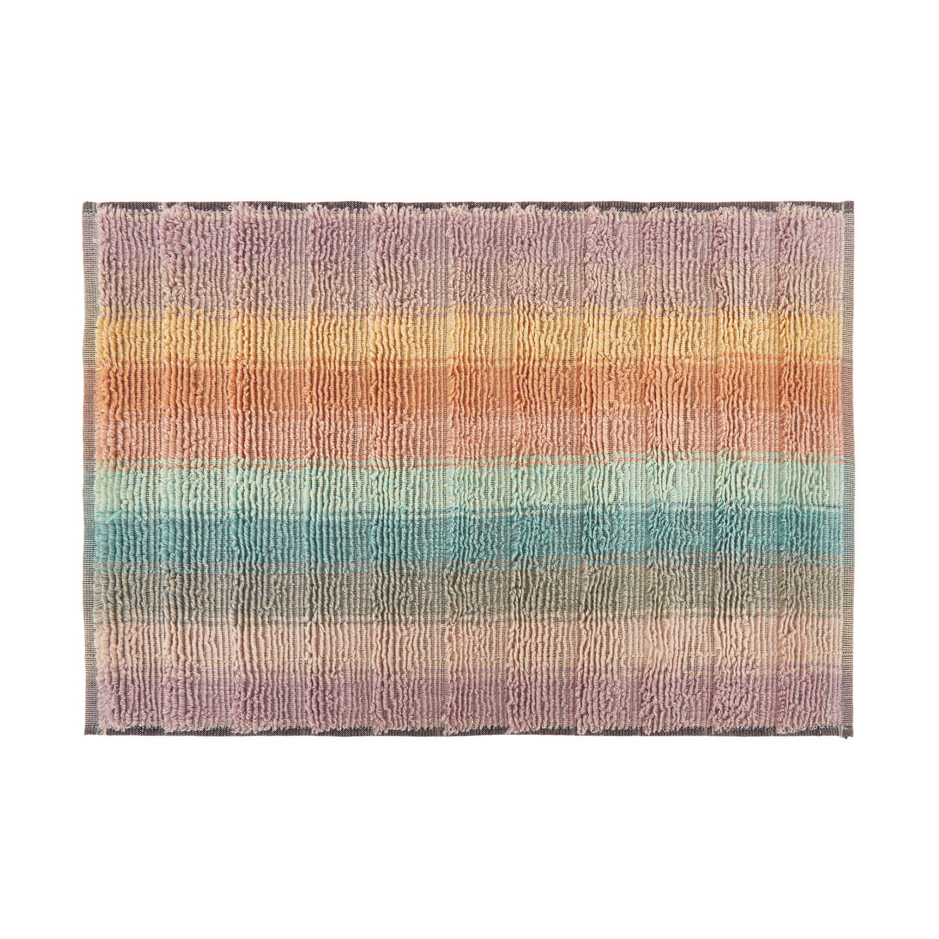 Asciugamano spugna di cotone a righe, Multicolor, large image number 1