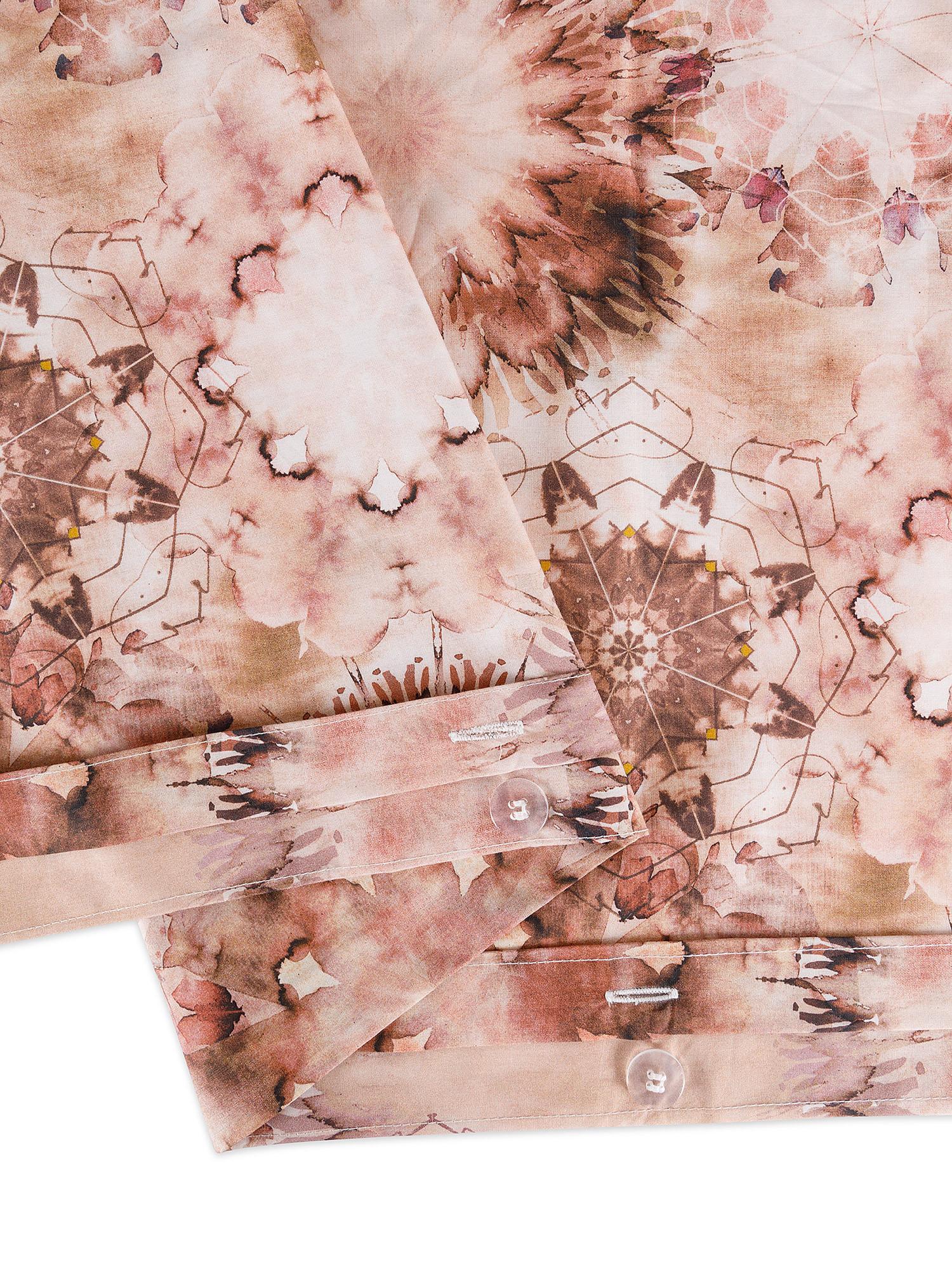 Copripiumino percalle di cotone fantasia floreale, Rosa, large image number 2