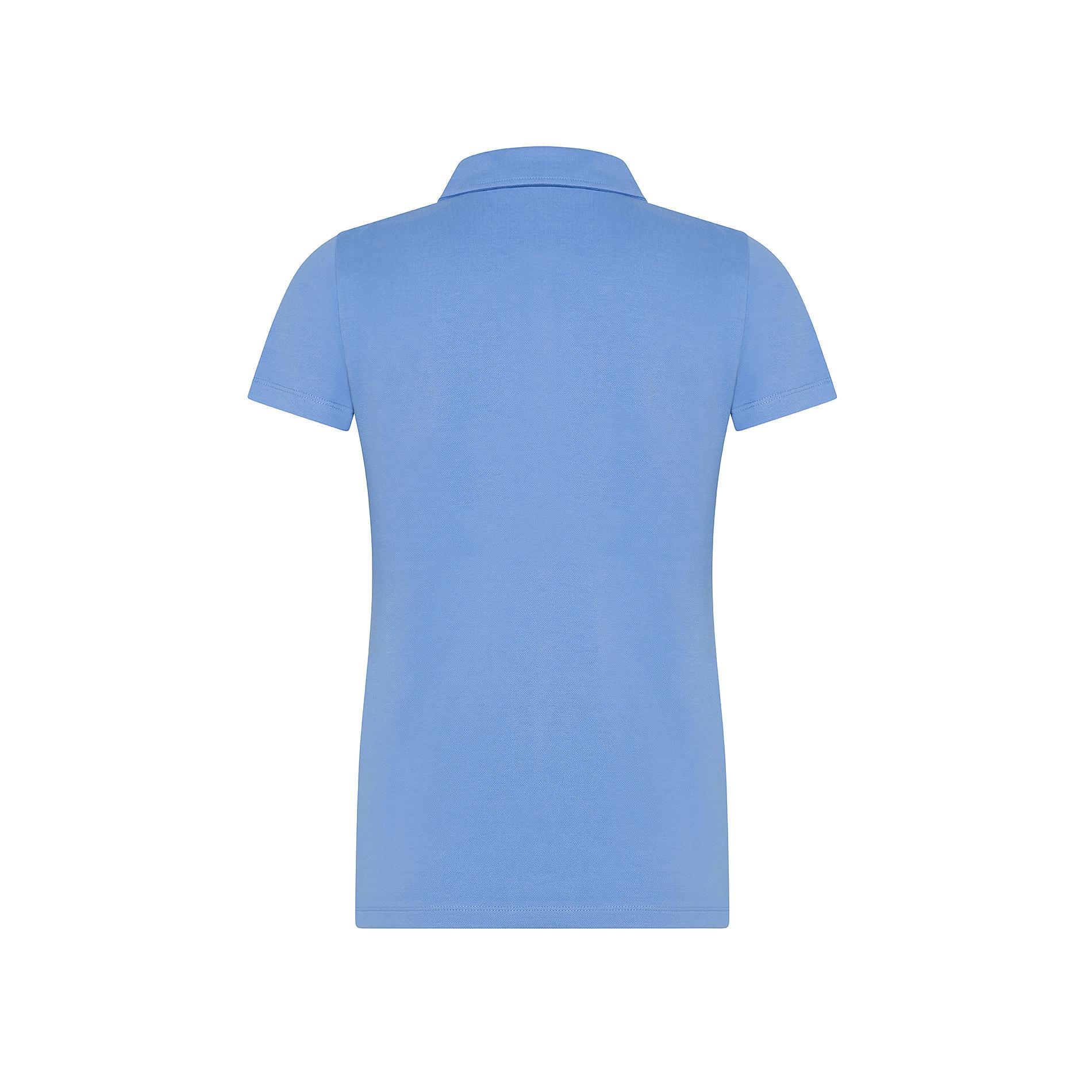 Polo cotone tinta unita, Azzurro, large image number 1