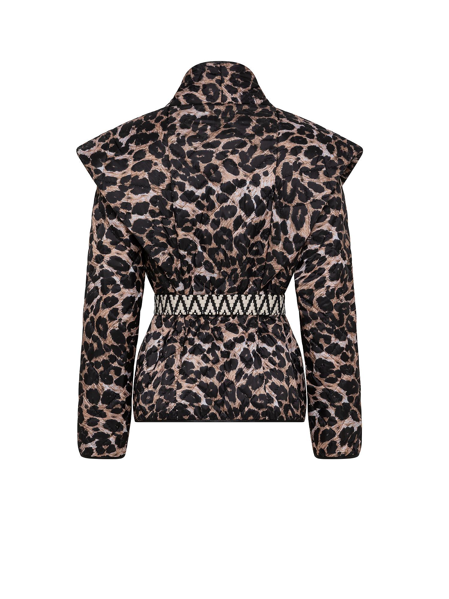 Giacca trapuntata leo con cintura, Multicolor, large image number 1