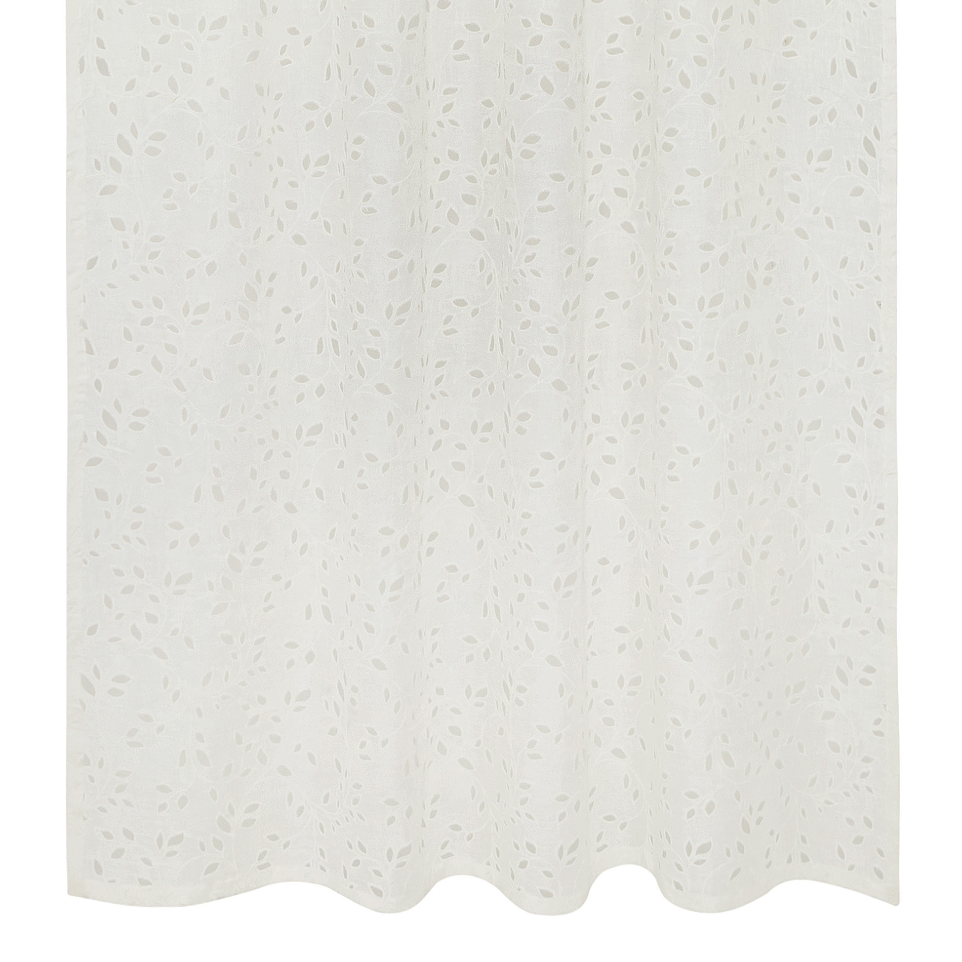 Tenda lino sangallo passanti nascosti, Bianco, large image number 1