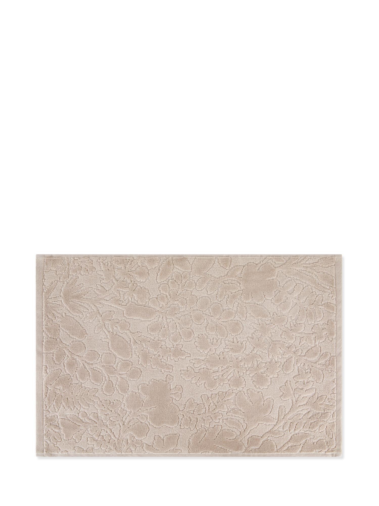 Asciugamano cotone velour tinta unita, Beige, large image number 1