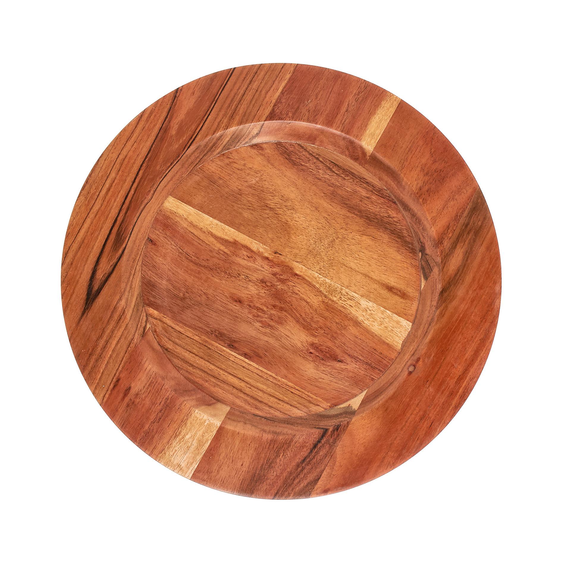 Sottopiatto legno di acacia, Naturale, large image number 0