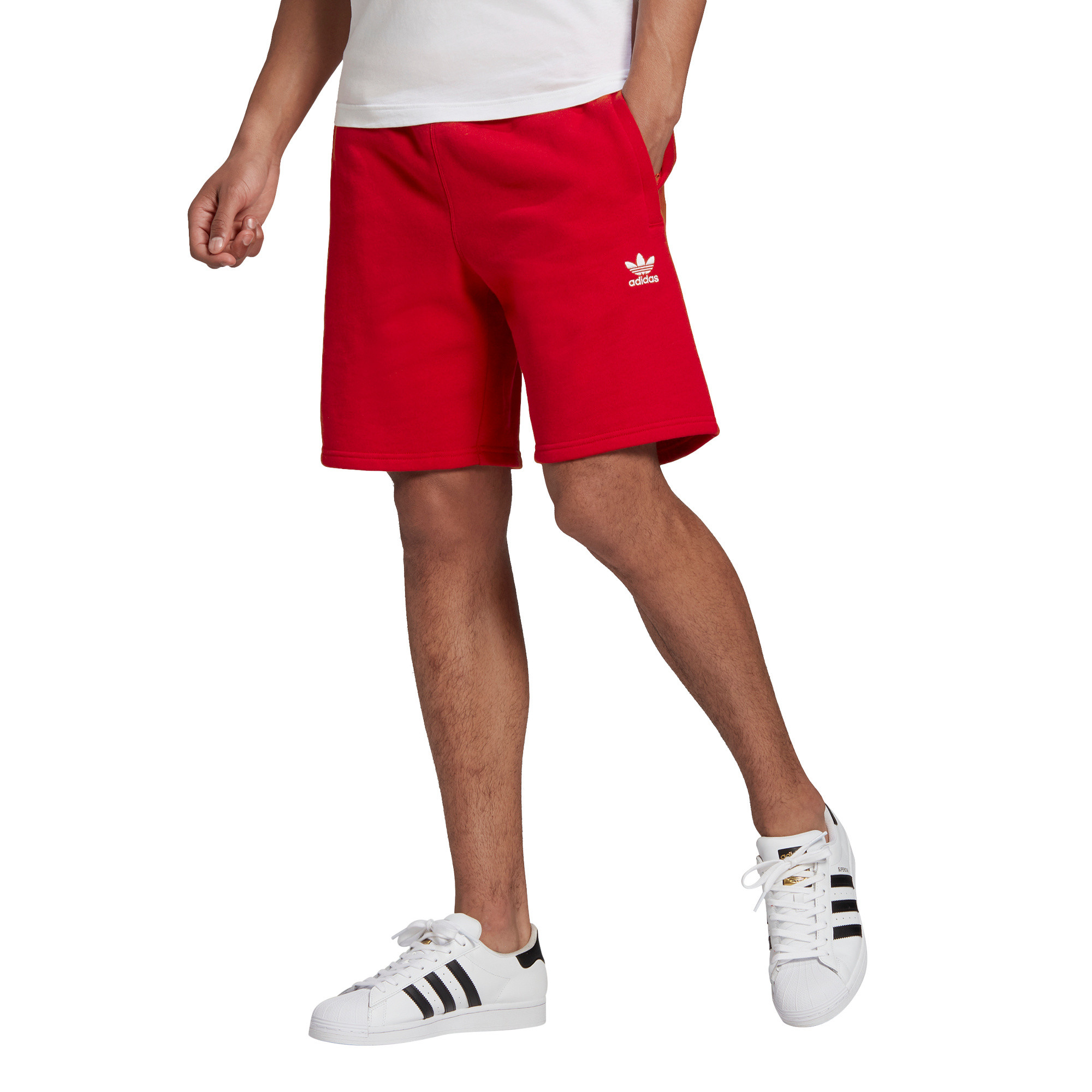 Short loungewear trefoil Essentials, Rosso, large image number 7
