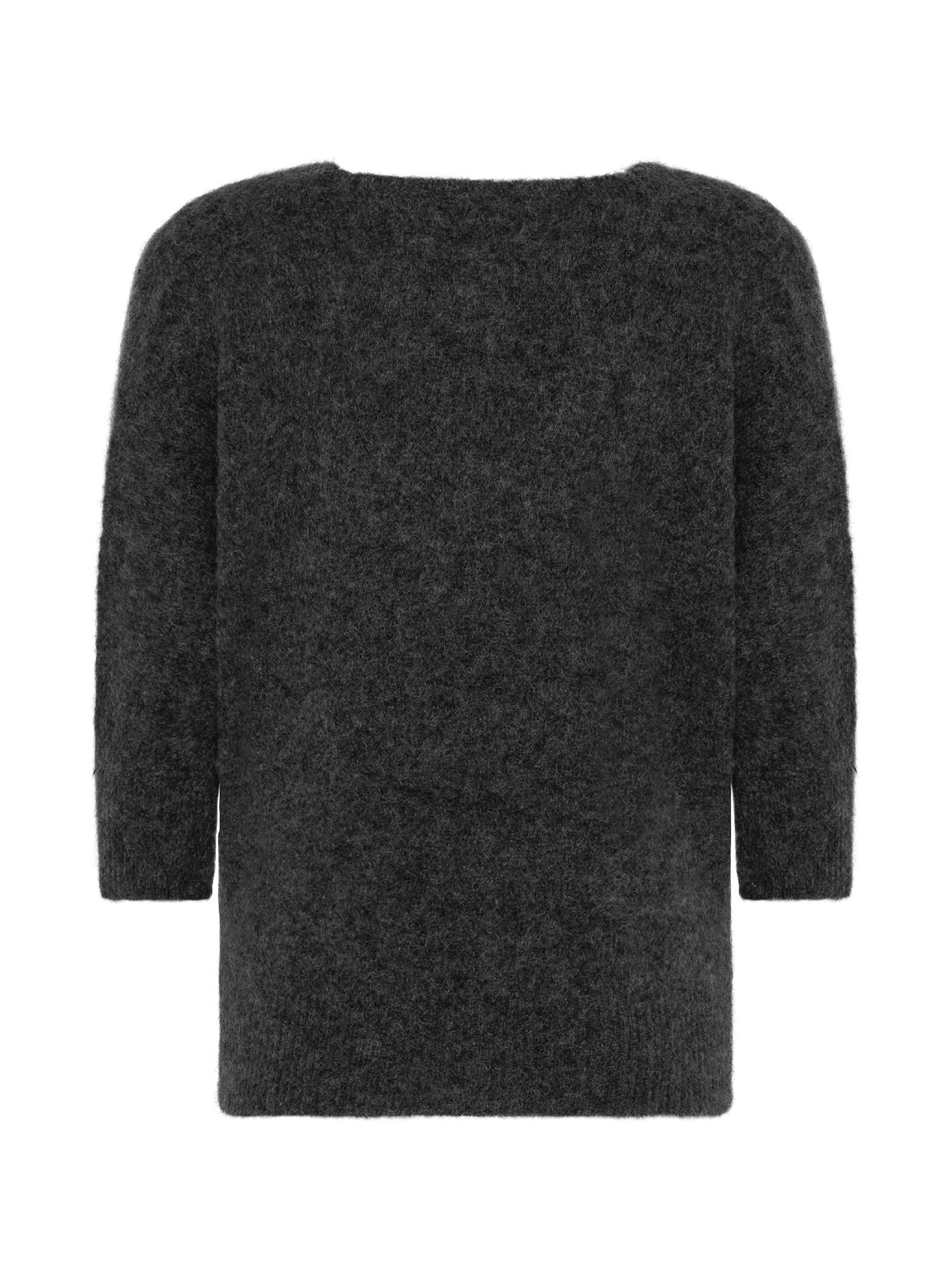 Maglia in kid mohair stretch, Grigio, large image number 1