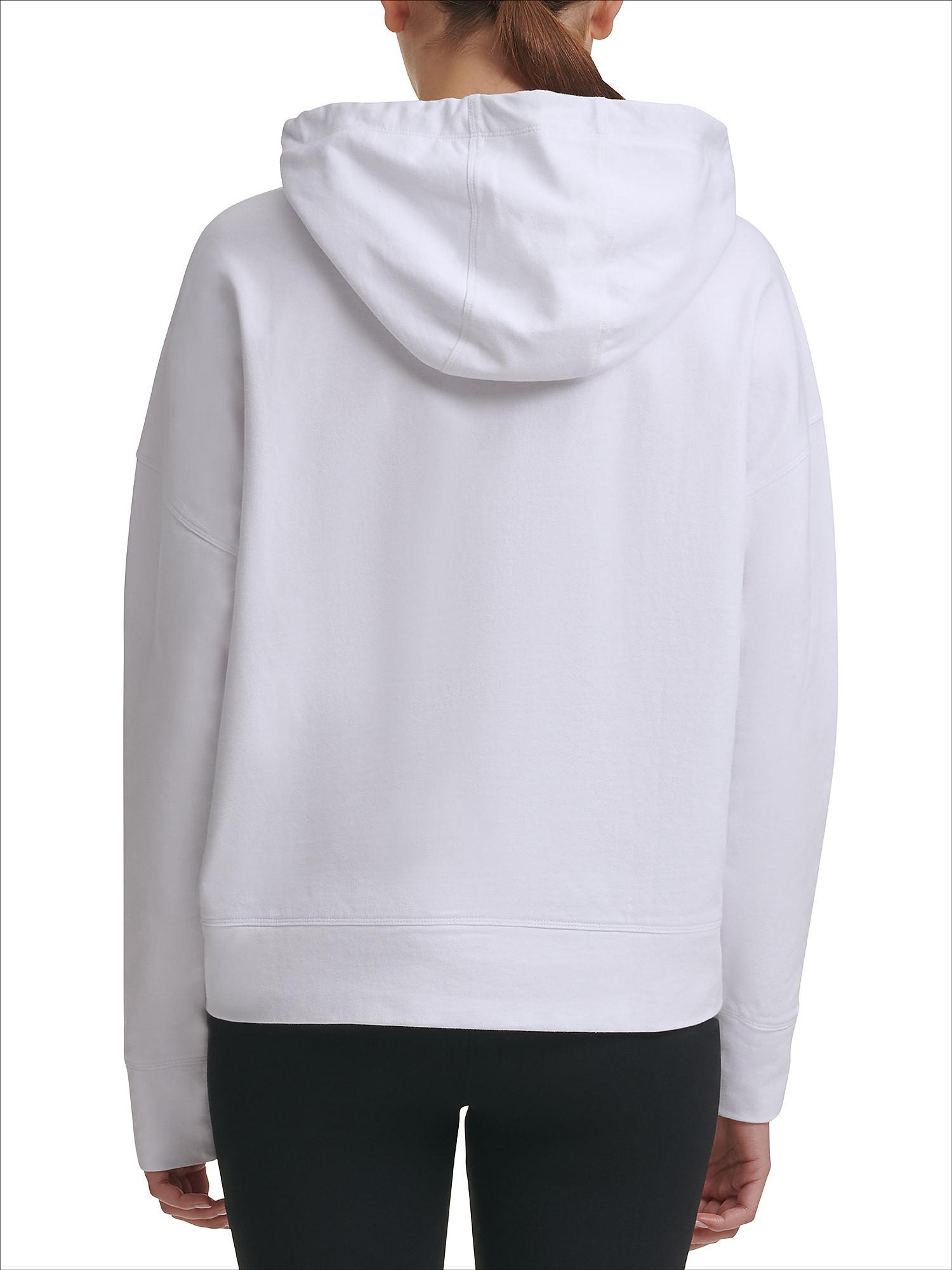 Felpa con logo, Bianco, large image number 3
