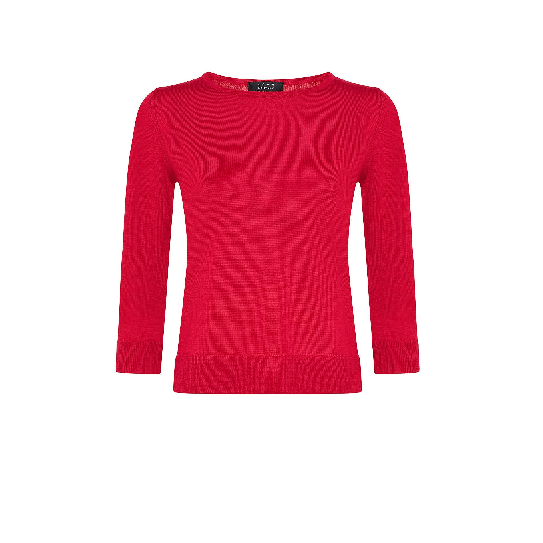 Pullover lana merinos tinta unita, , large image number 0