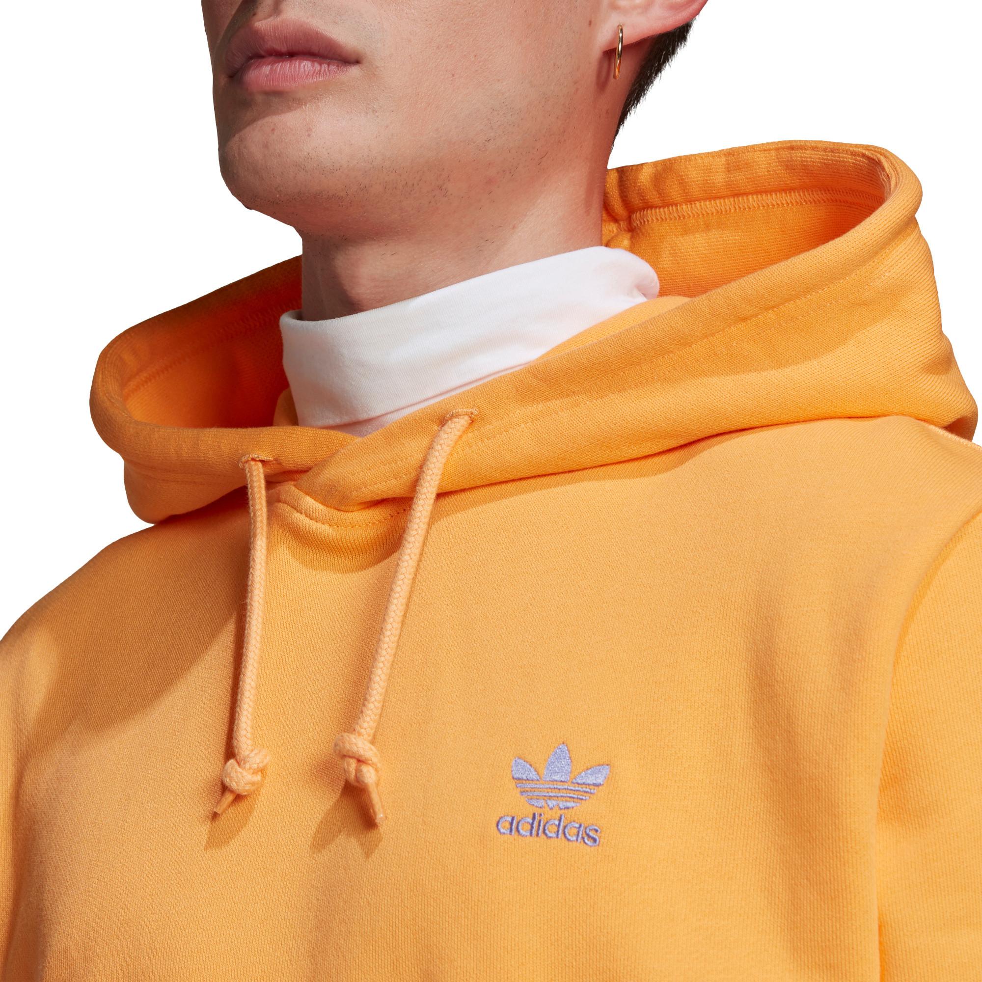 Felpa in spugna loungewear trefoil essentials, Arancione, large image number 3