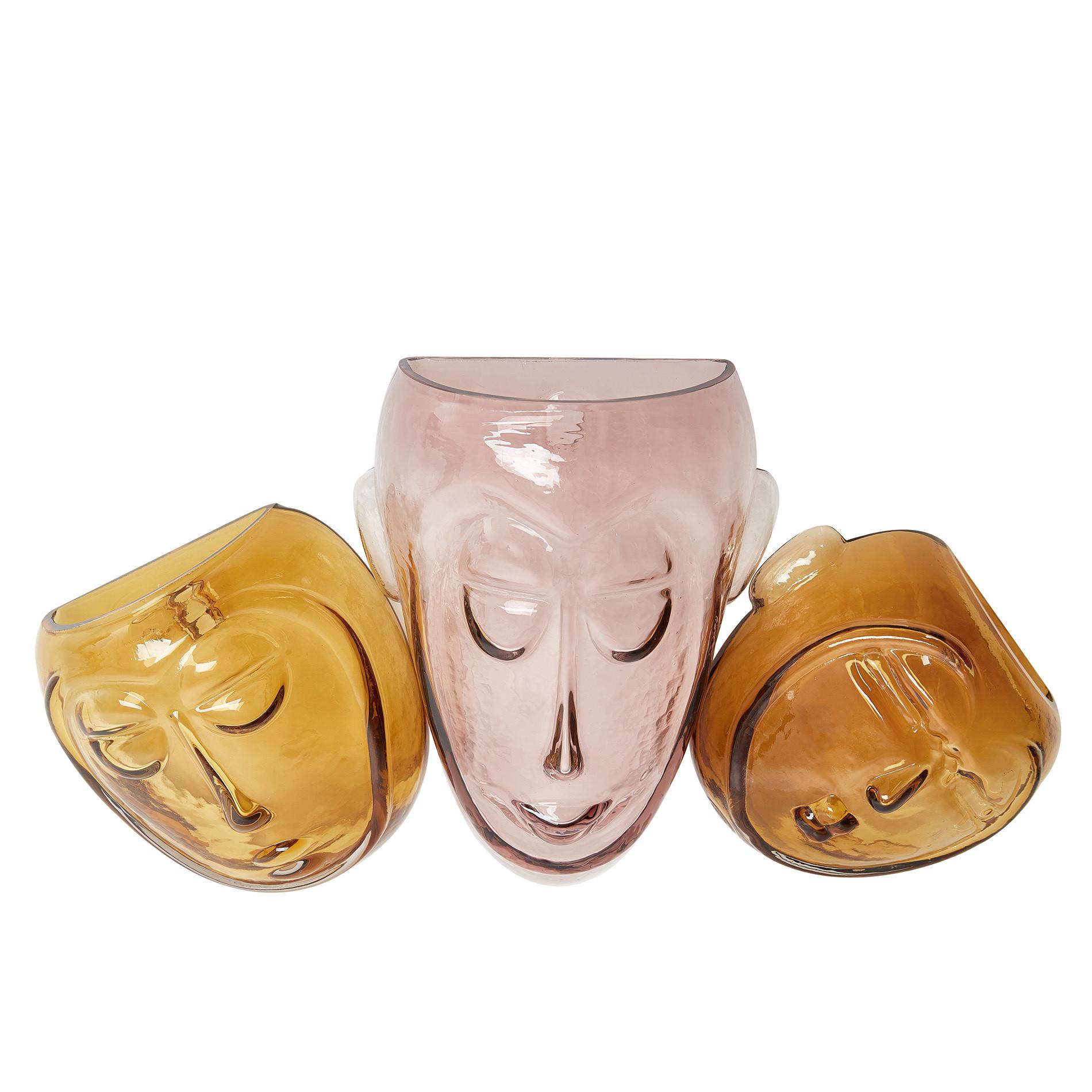 Maschera decorativa vetro colorato in pasta, Trasparente, large image number 1