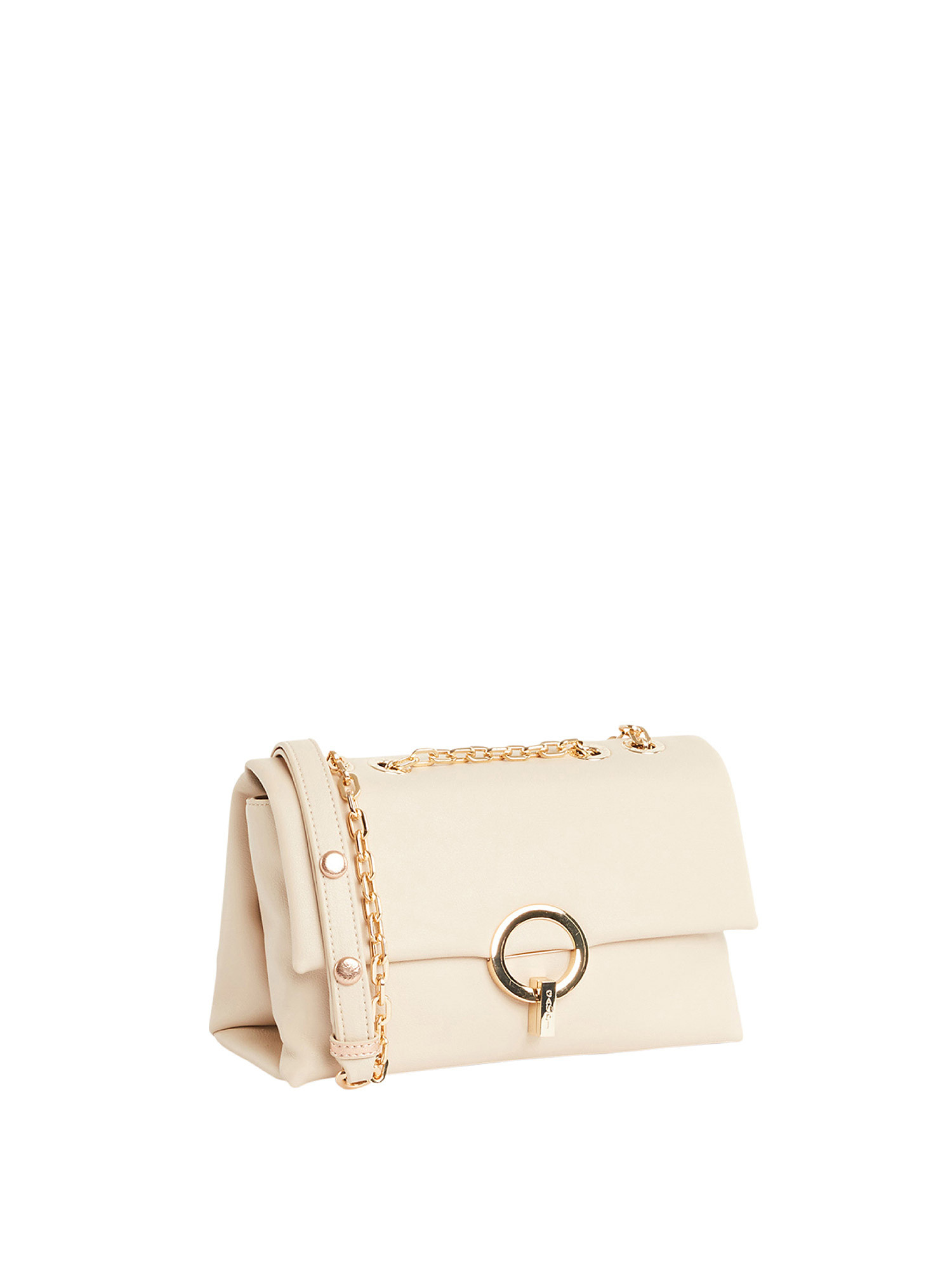 Borsa a tracolla in ecopelle, Beige, large image number 1