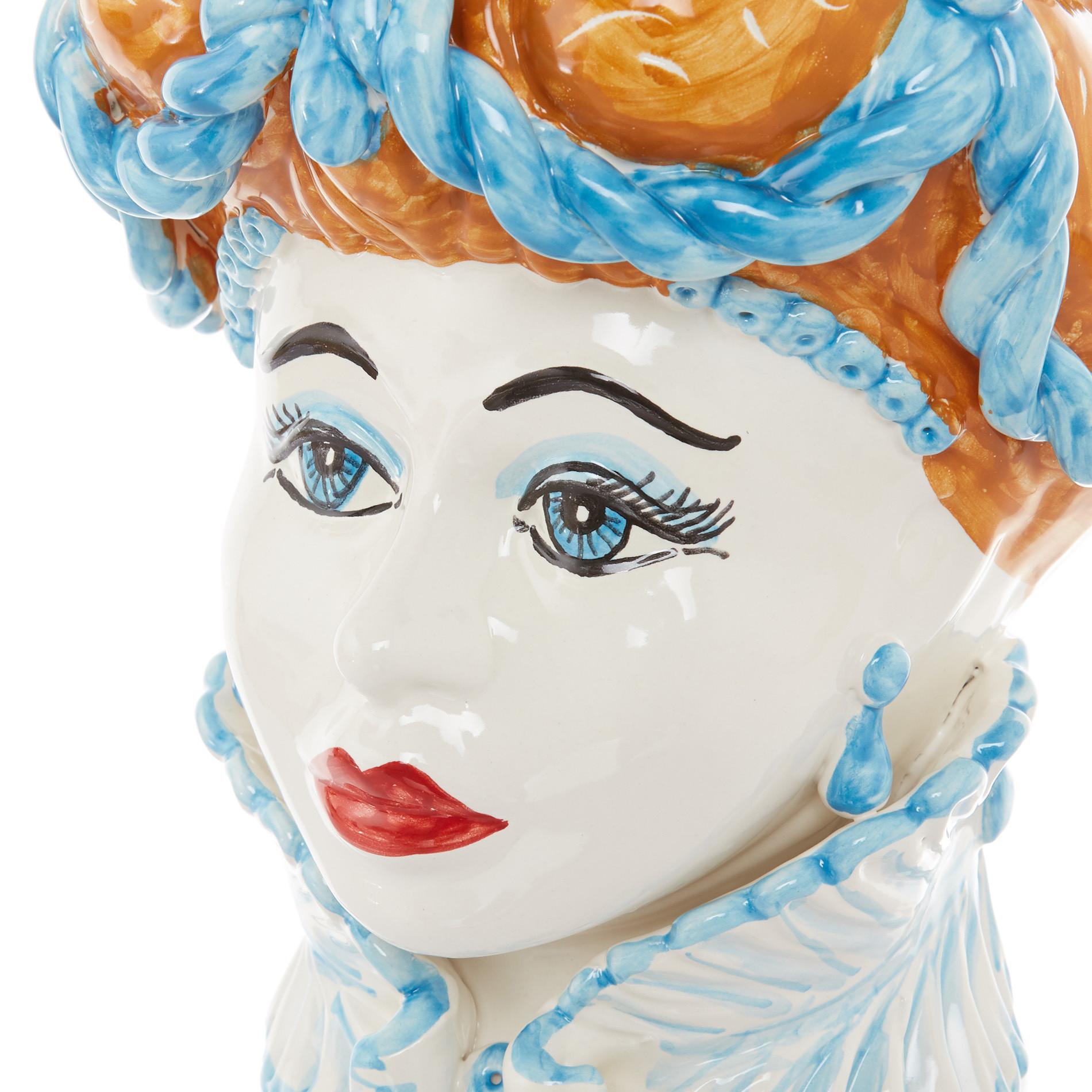 Testa di moro arabesque by Ceramiche Siciliane Ruggeri, Multicolor, large image number 1