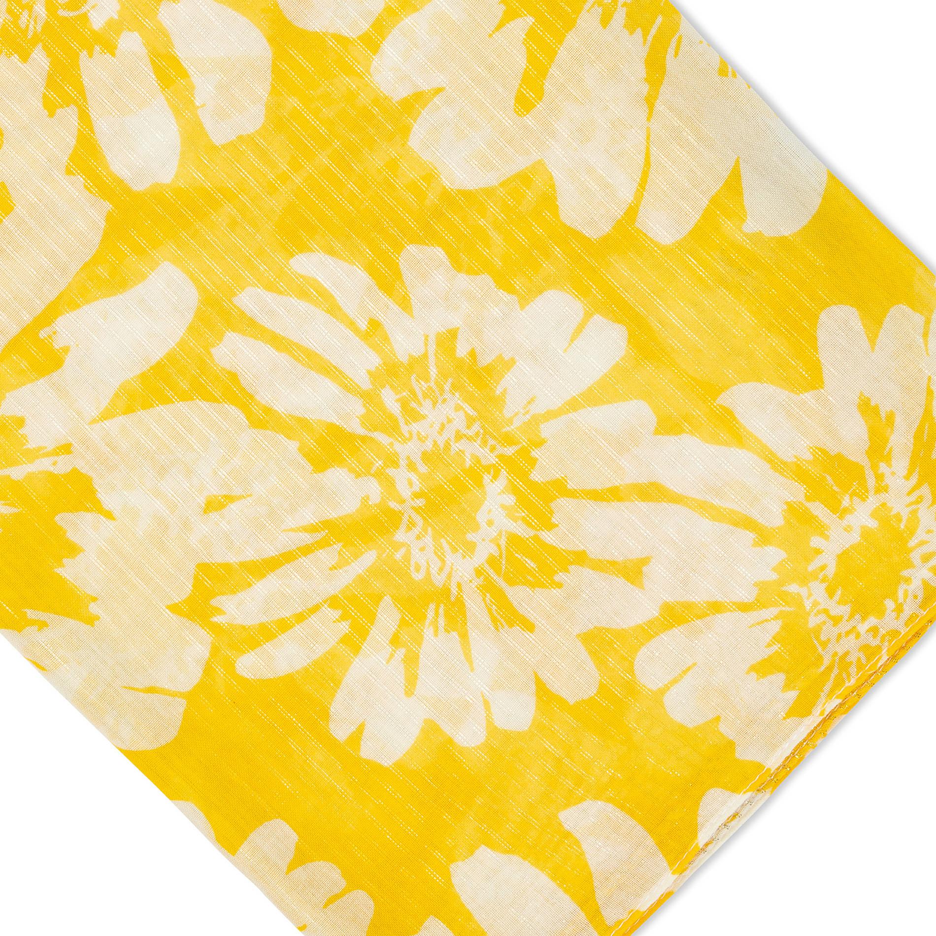 Sciarpa stampa fiori e lurex Koan, Giallo, large image number 1