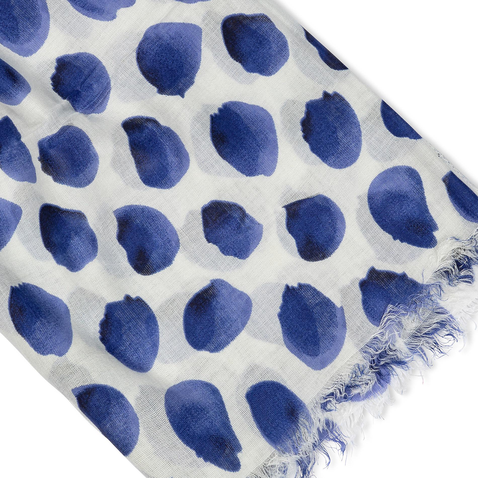 Sciarpa viscosa stampa petali Koan, Blu, large image number 1