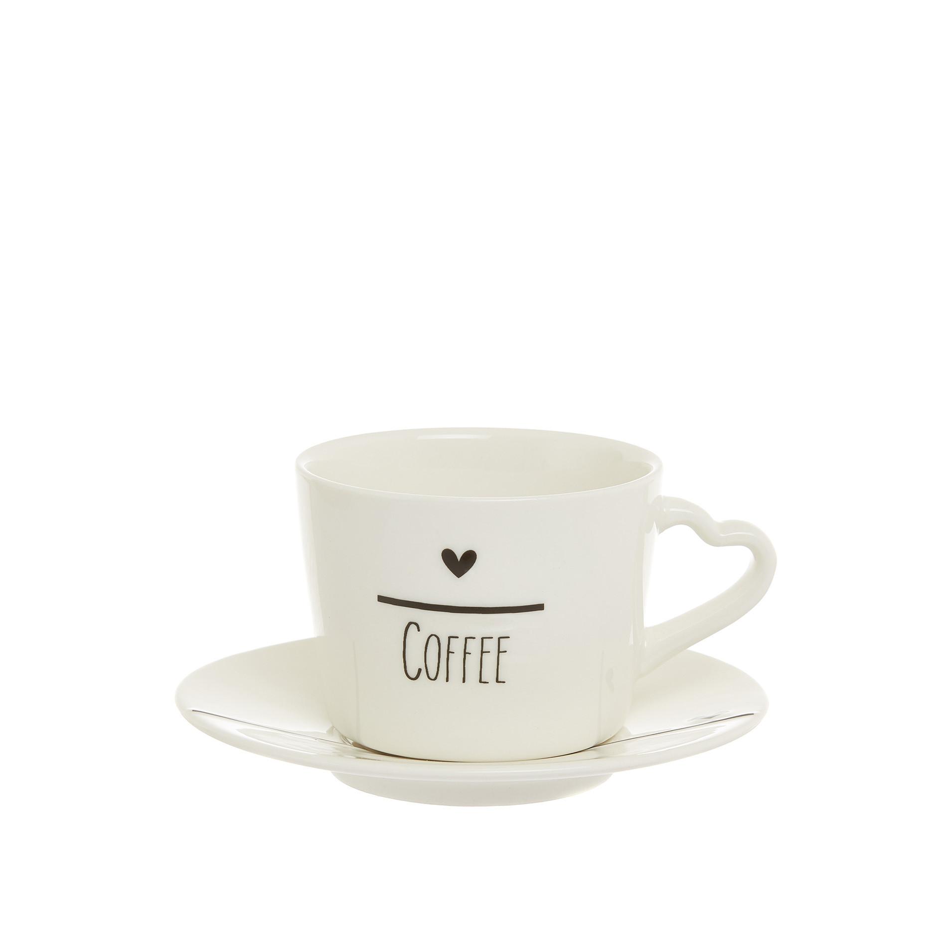 Tazza caffè porcellana cuori, Bianco, large image number 0