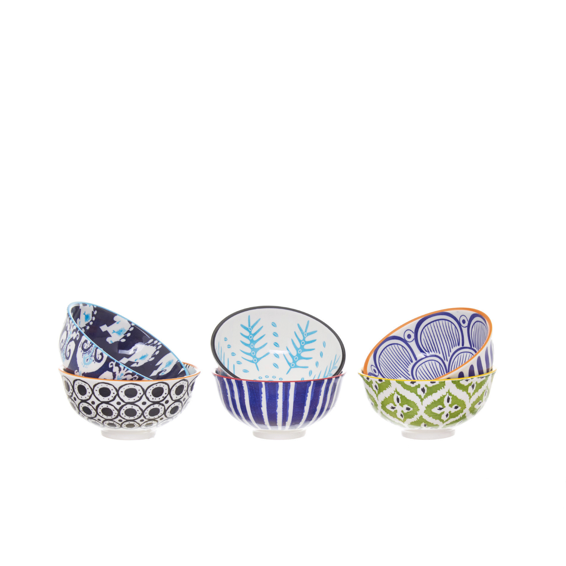 Coppette in ceramica, Multicolor, large image number 0