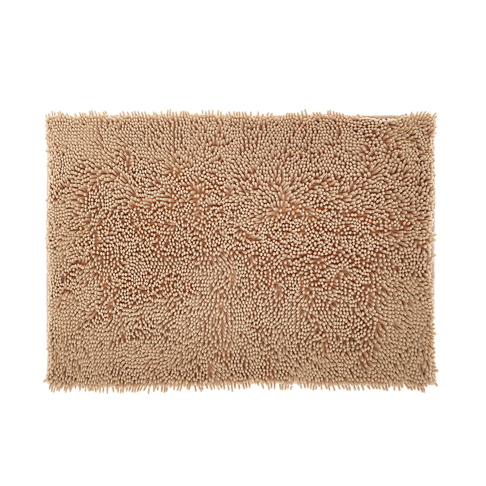 Tappeto bagno microfibra shaggy, Beige, large image number 0