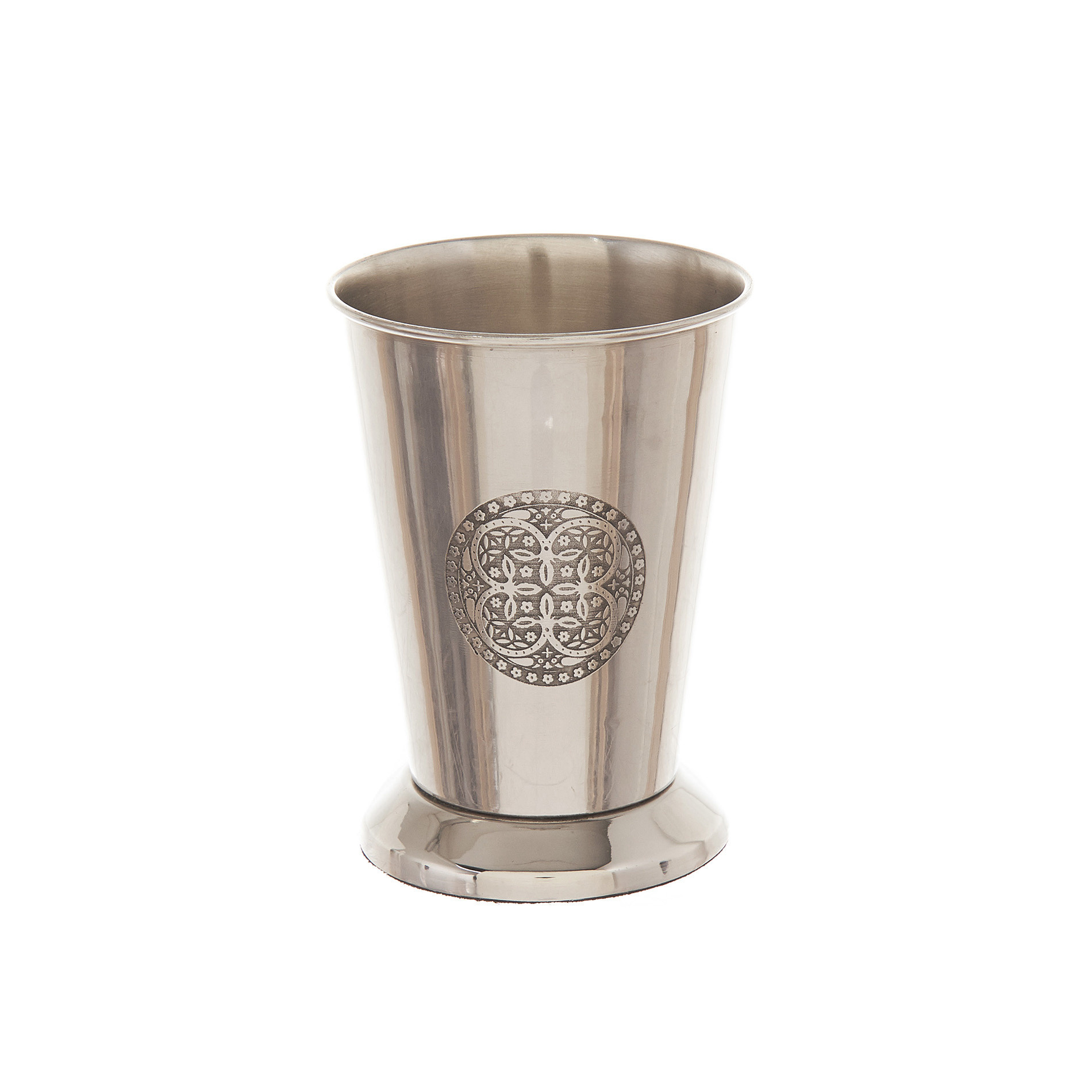 Portaspazzolini acciaio inciso, Grigio argento, large image number 0