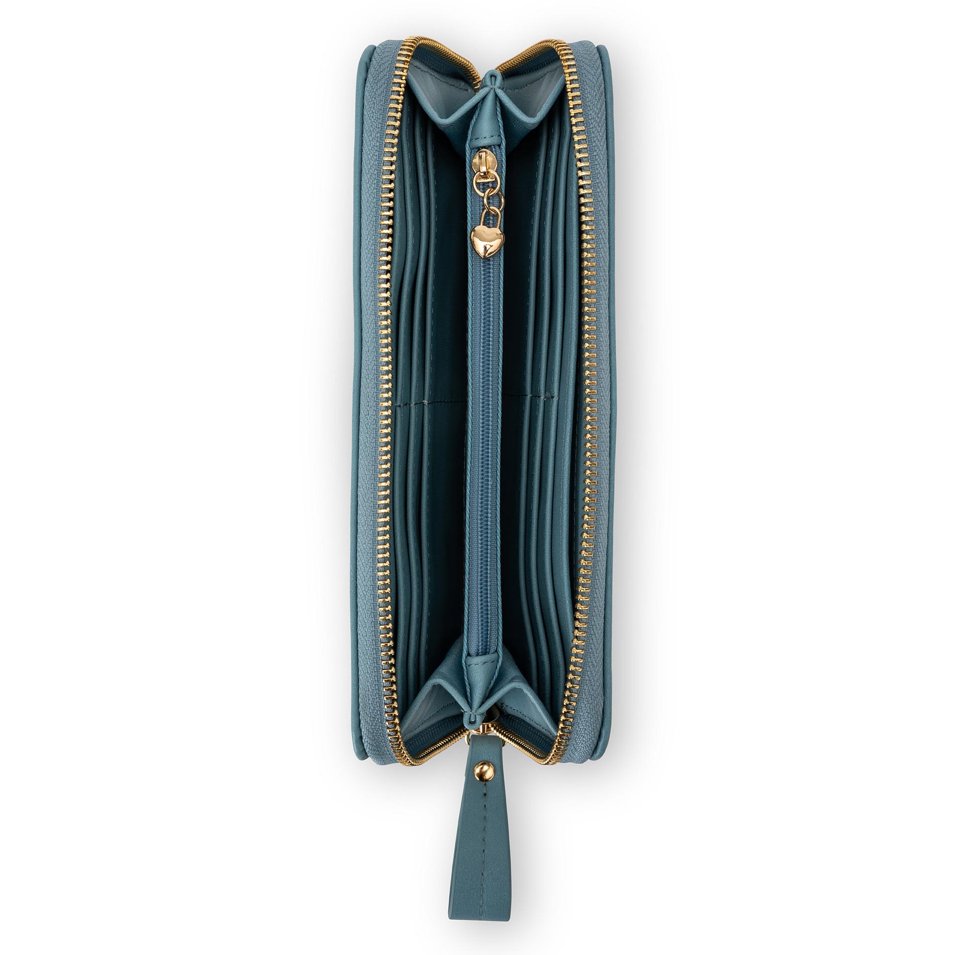 Portafoglio pelle sintetica Koan, Azzurro, large image number 2