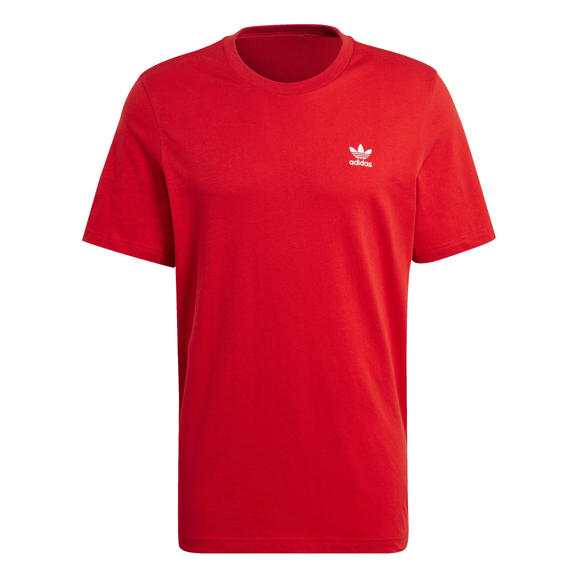 T-shirt loungewear adicolor trefoil essentials, Rosso, large image number 0