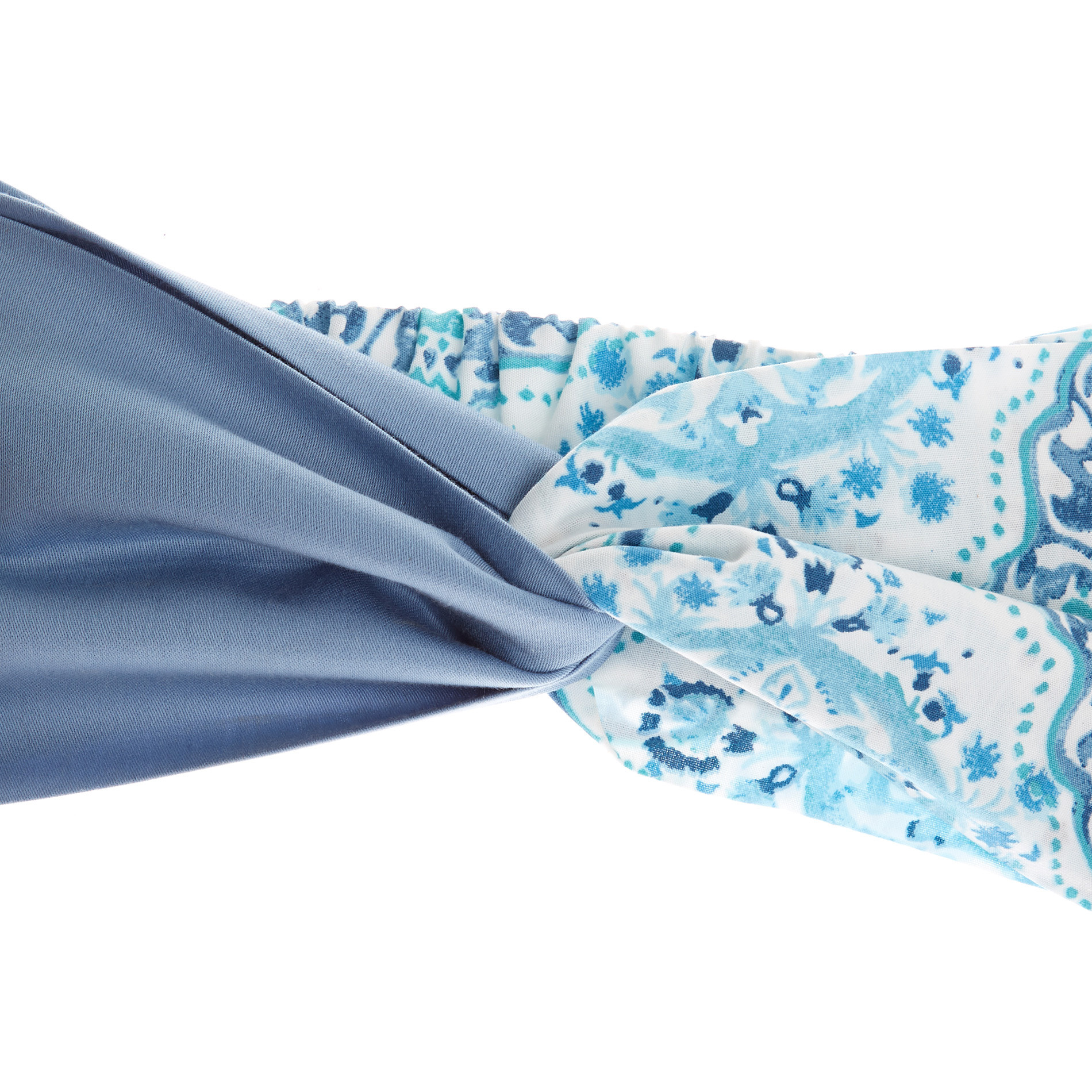 Fascia per capelli fantasia ornamentale, Azzurro, large image number 2