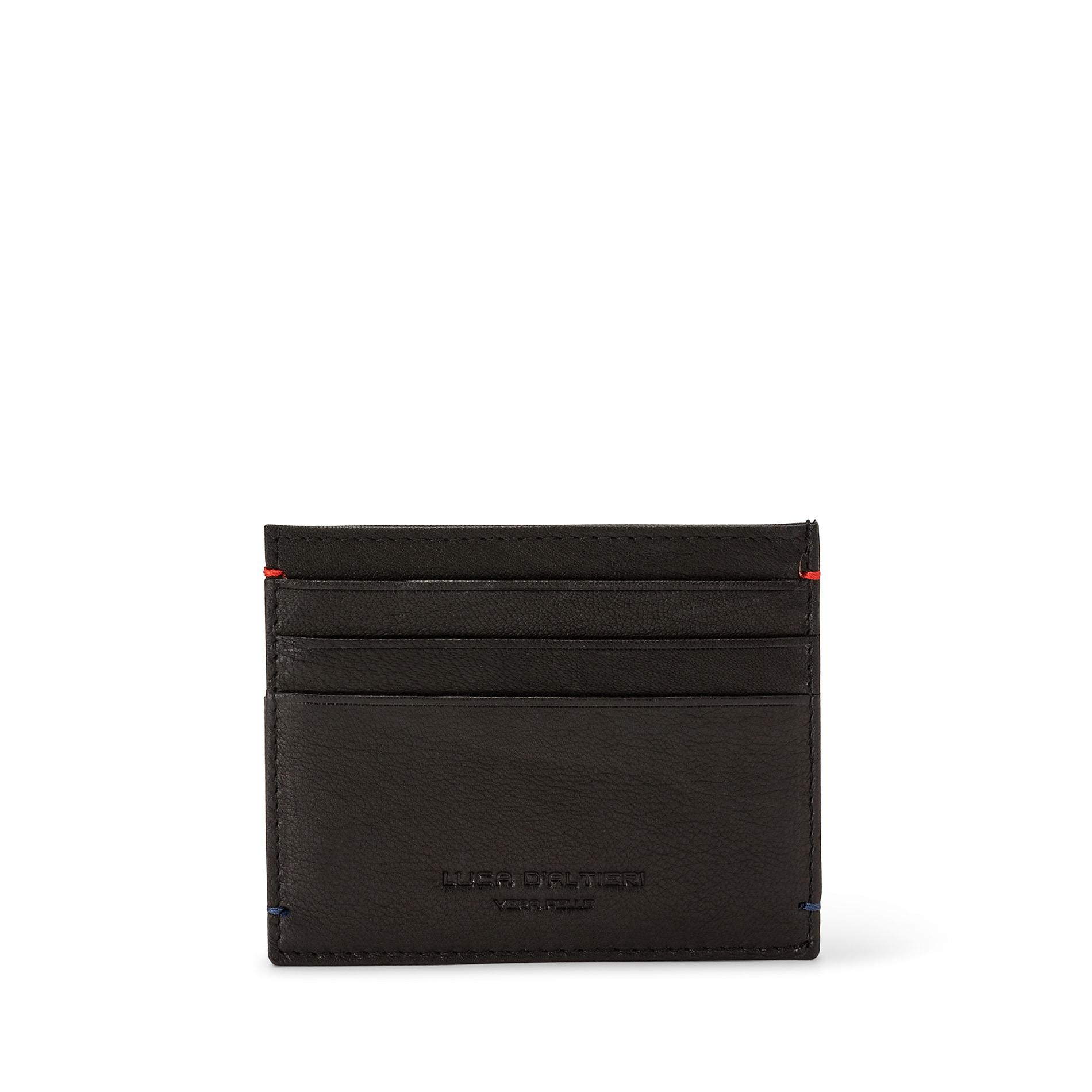 Porta carte di credito in pelle Luca D'Altieri, Nero, large image number 0