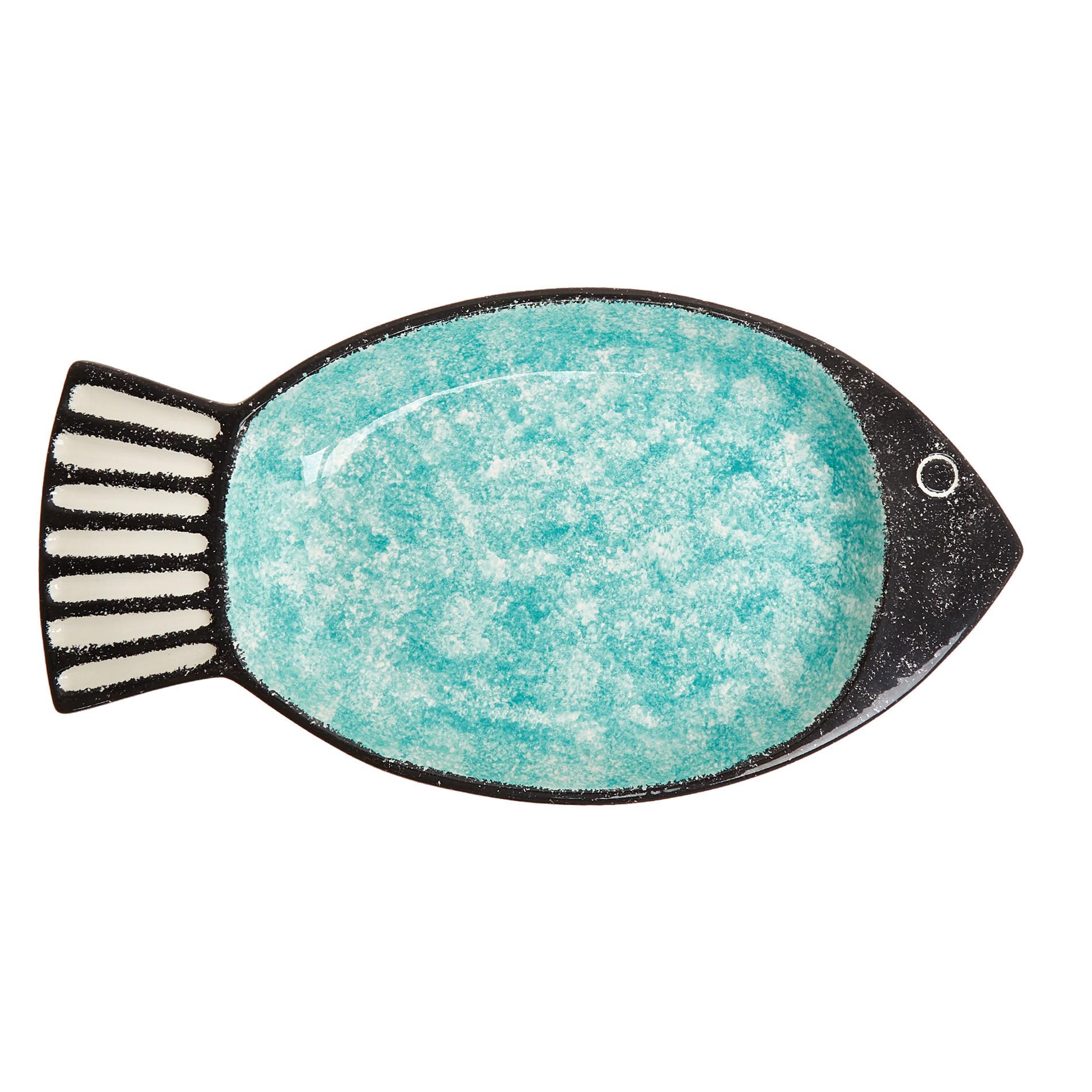 Coppa ceramica a pesce, Verde acqua, large image number 1