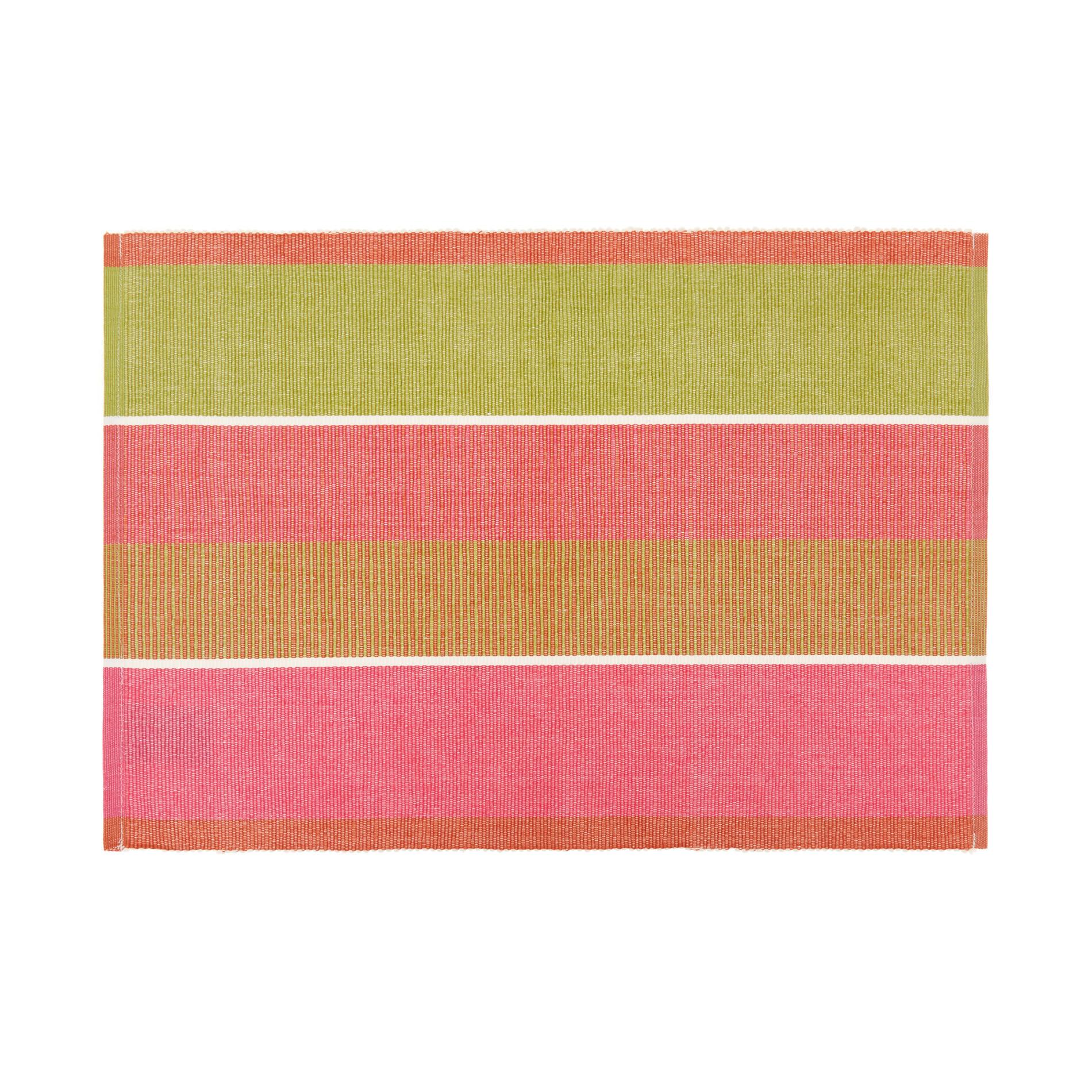 Tovaglietta puro cotone a righe, Multicolor, large image number 0