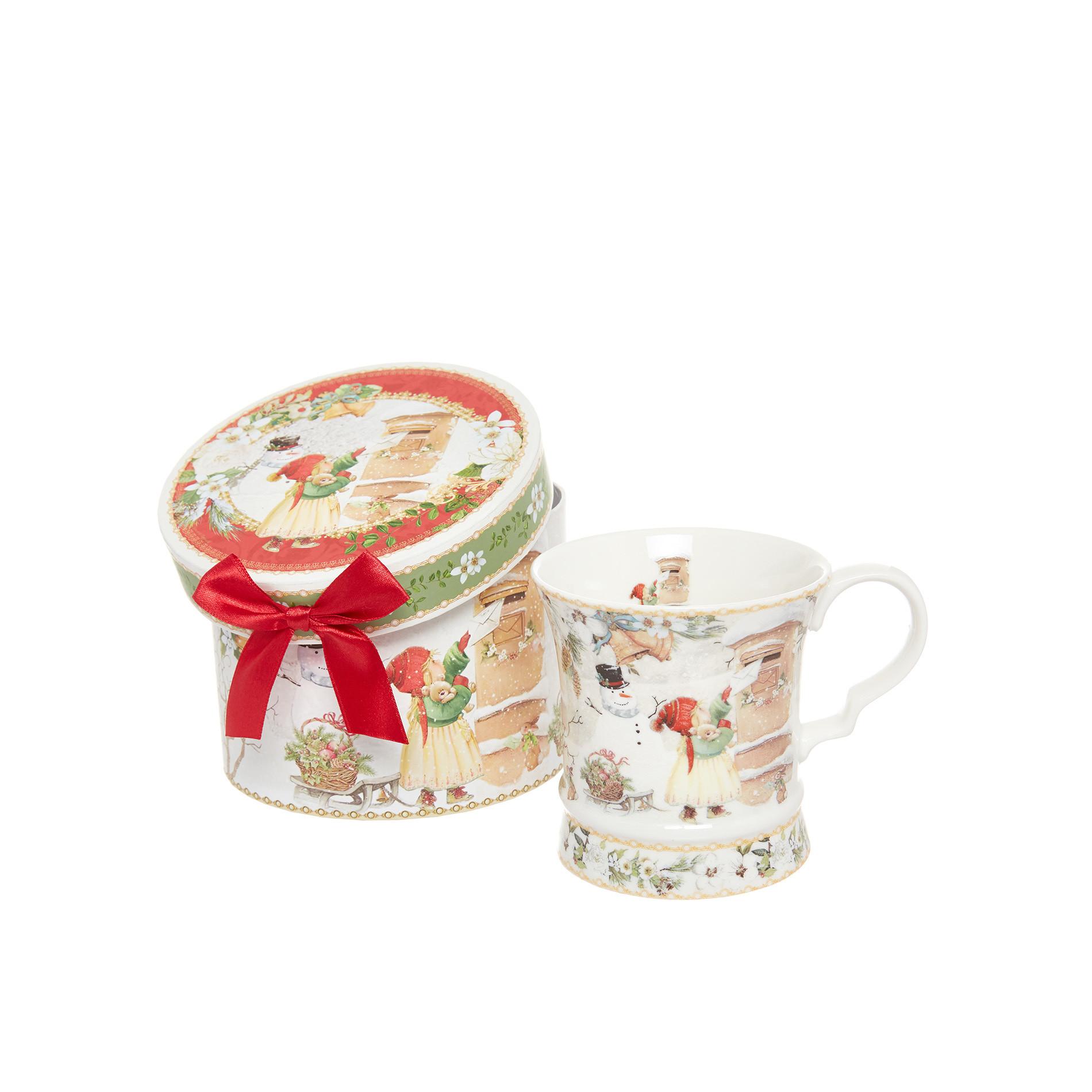 Mug porcellana motivo vintage, Bianco, large image number 0