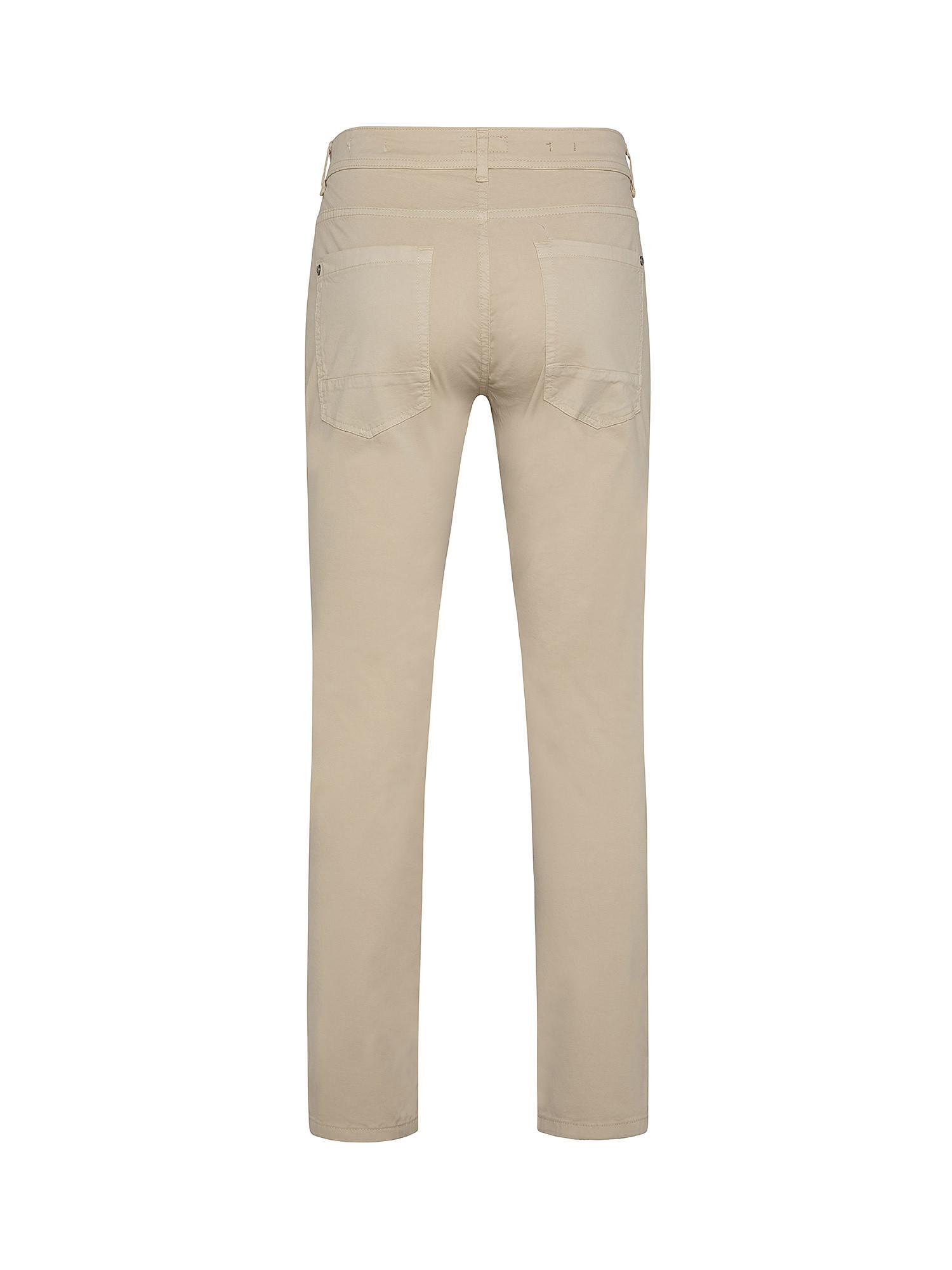 Pantalone da uomo in cotone elasticizzato slim fit, Beige, large image number 1
