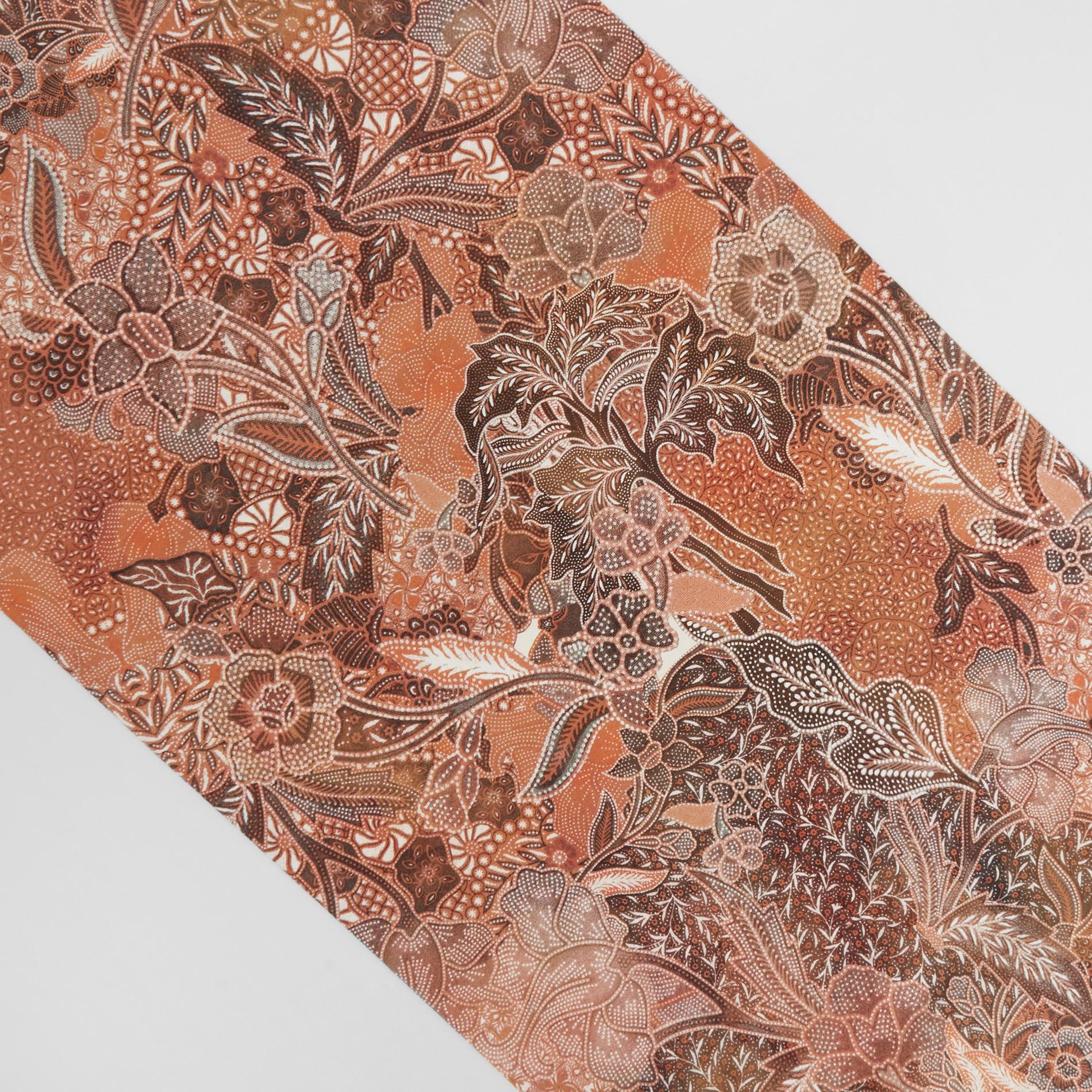 Runner puro cotone stampa foulard, Arancione, large image number 1