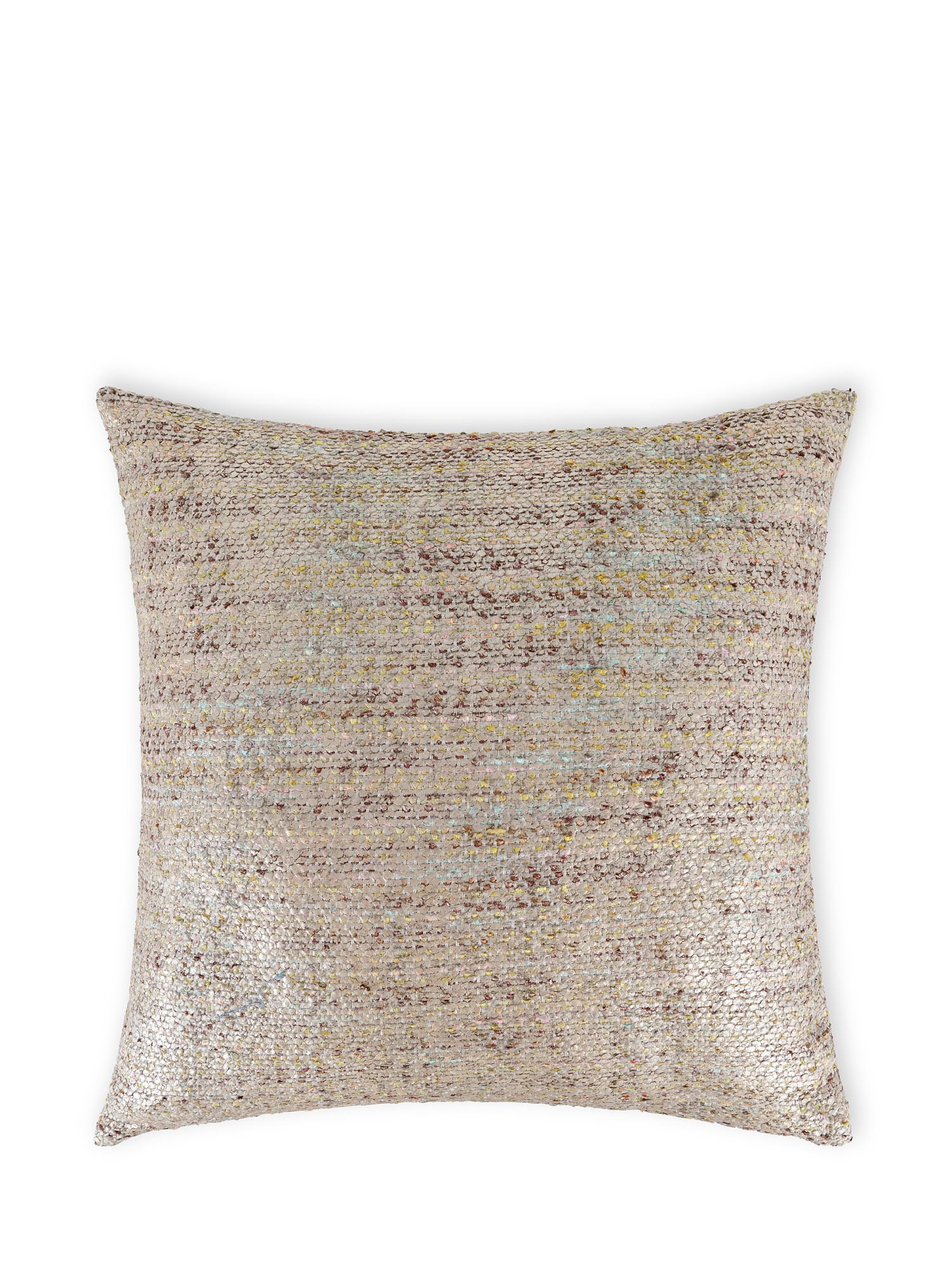 Cuscino tessuto effetto metallico 50x50cm, Multicolor, large image number 0