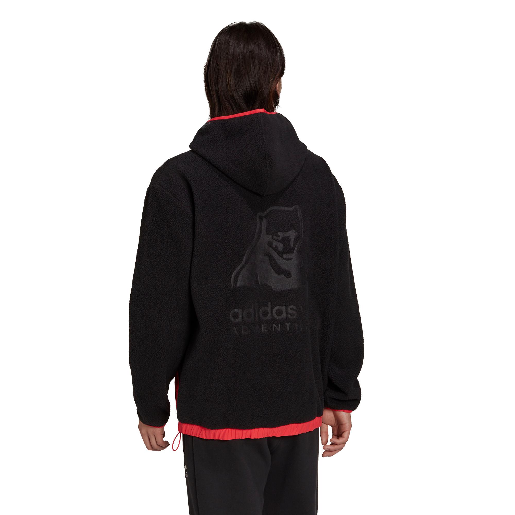 Felpa con cappuccio adidas Adventure Polar Fleece, Nero, large image number 1